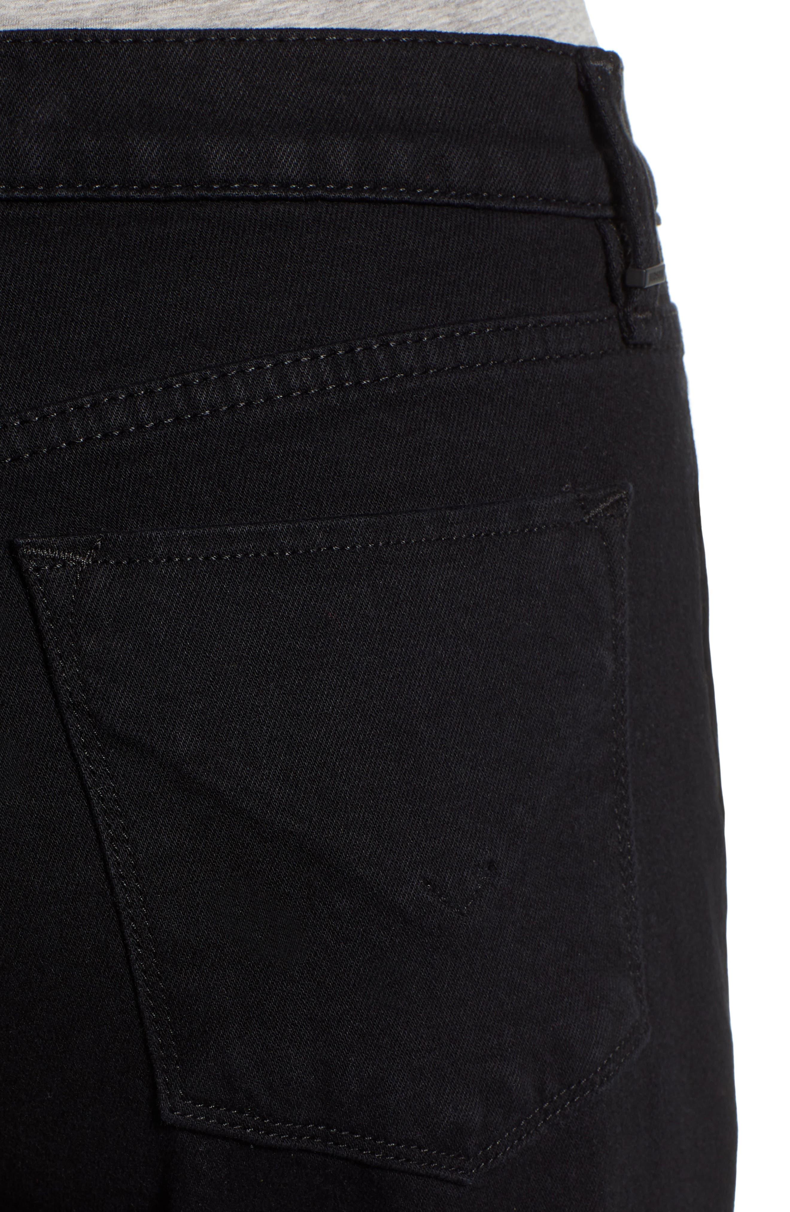 HUDSON JEANS, Jessi Crop Boyfriend Jeans, Alternate thumbnail 5, color, 001