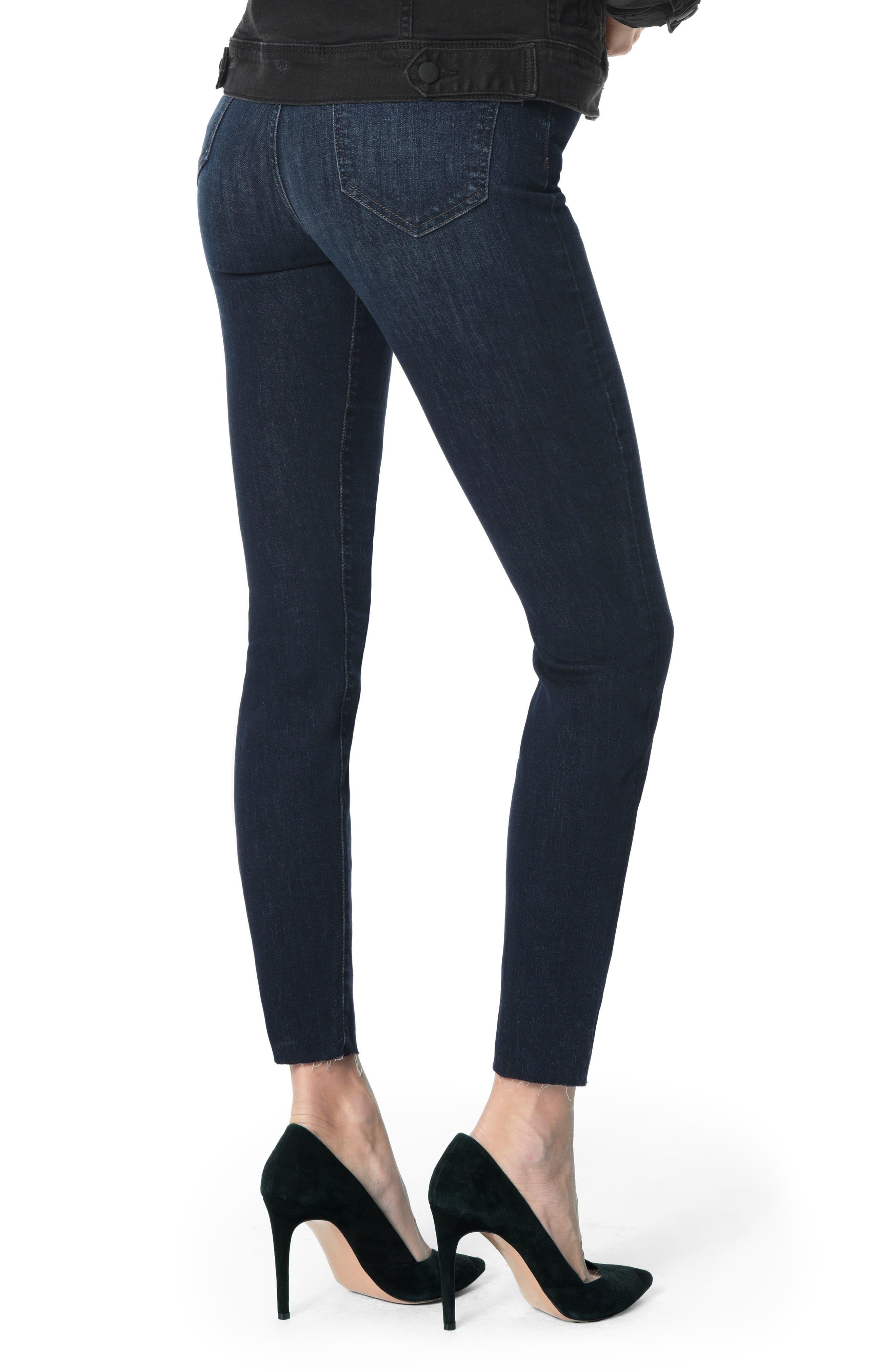 JOE'S, Charlie High Waist Raw Hem Ankle Skinny Jeans, Alternate thumbnail 2, color, DORI