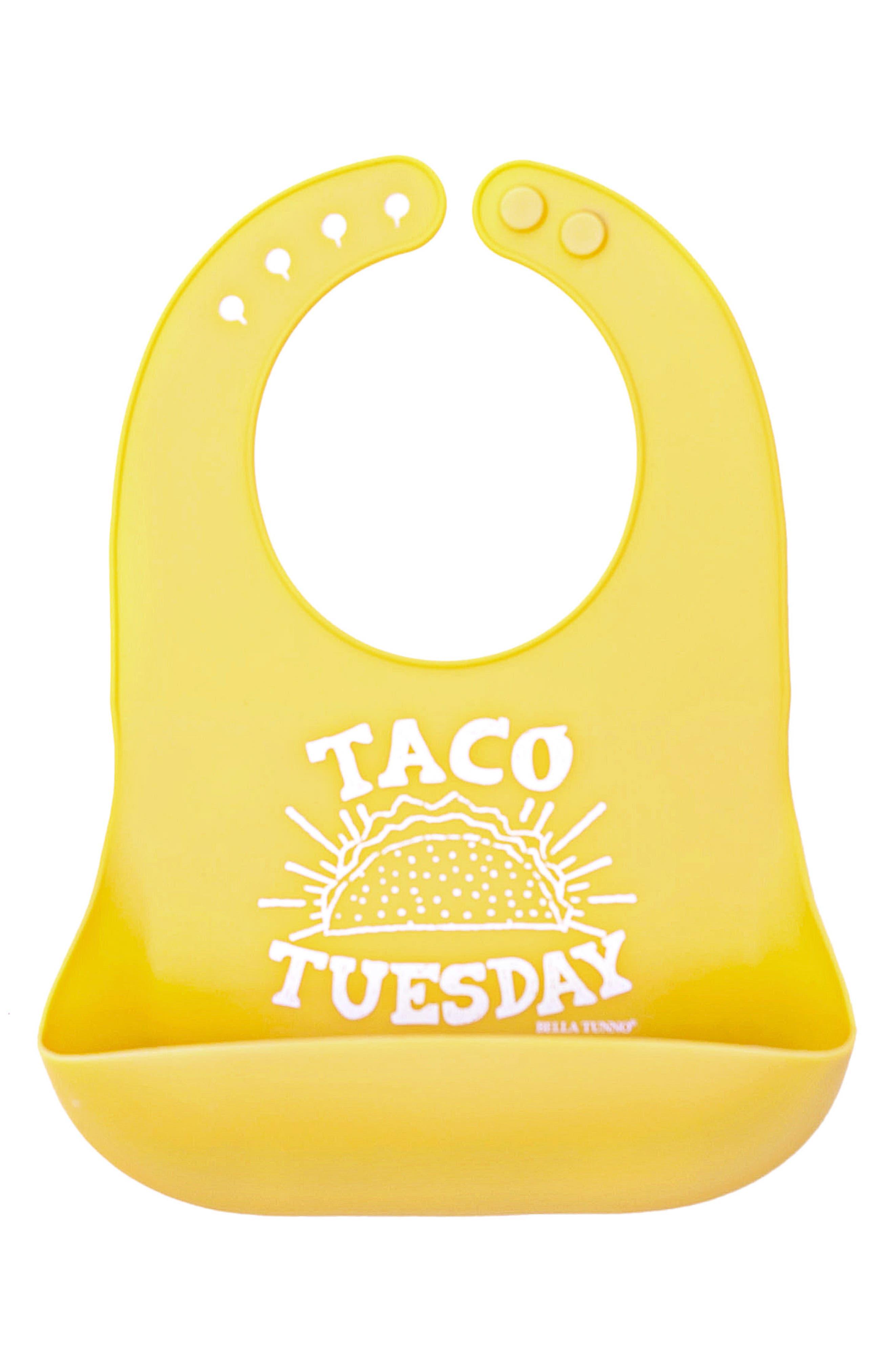 Infant Bella Tunno Taco Tuesday Wonder Bib Size One Size  Yellow