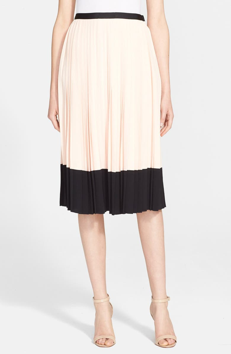 fd609153a KATE SPADE NEW YORK pleated crepe skirt, Main, color, 160