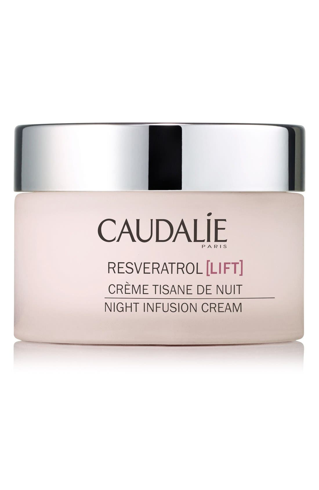 CAUDALÍE, Resveratrol Lift Night Infusion Cream, Main thumbnail 1, color, NO COLOR
