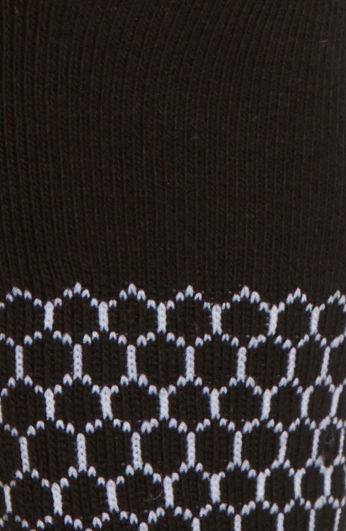 BOMBAS, Solid Ankle Socks, Alternate thumbnail 2, color, BLACK