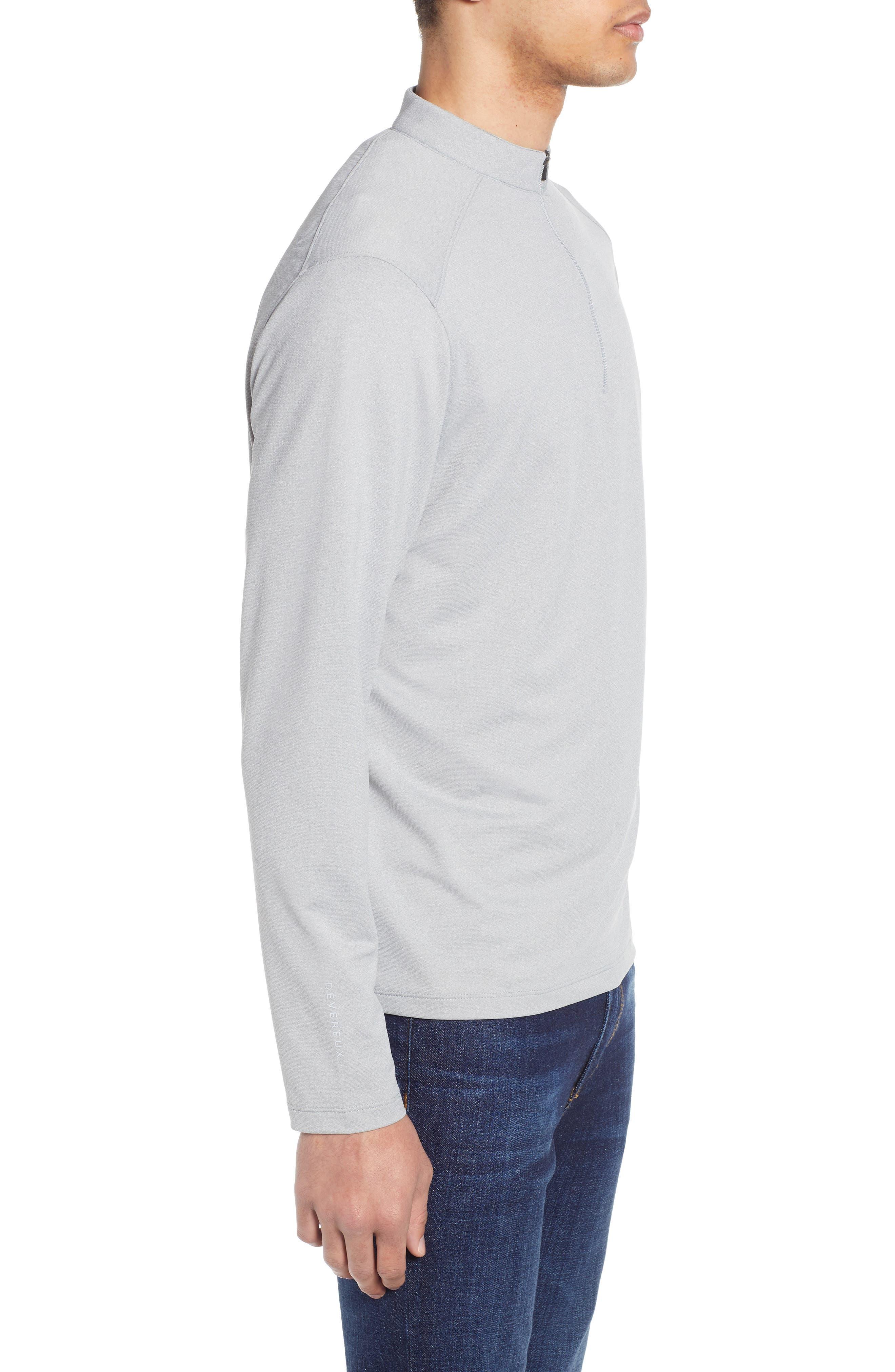 DEVEREUX, Lay-Low Half Zip Pullover, Alternate thumbnail 3, color, ASPHALT