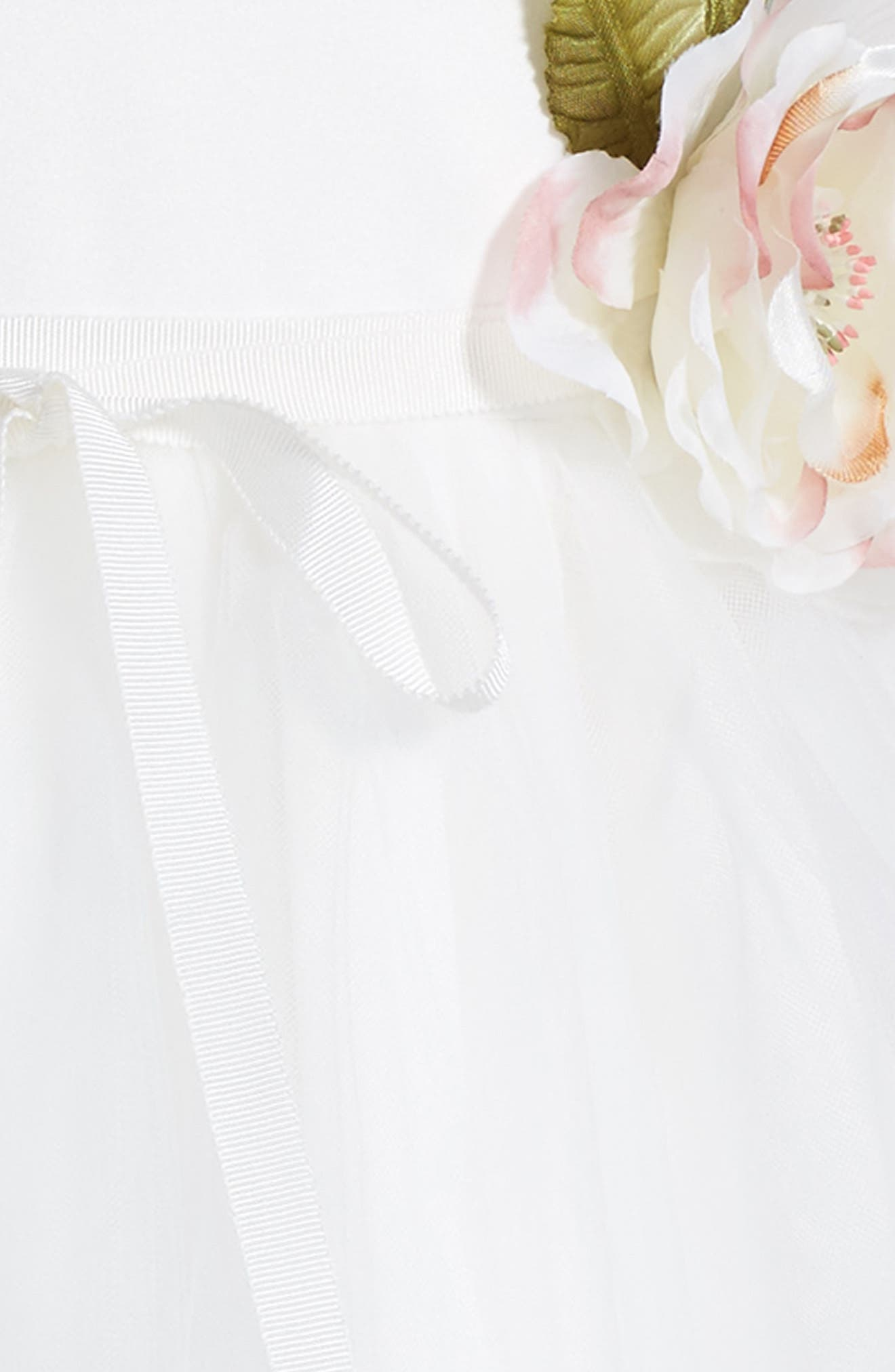 US ANGELS, 'Ballerina' Dress, Alternate thumbnail 3, color, IVORY