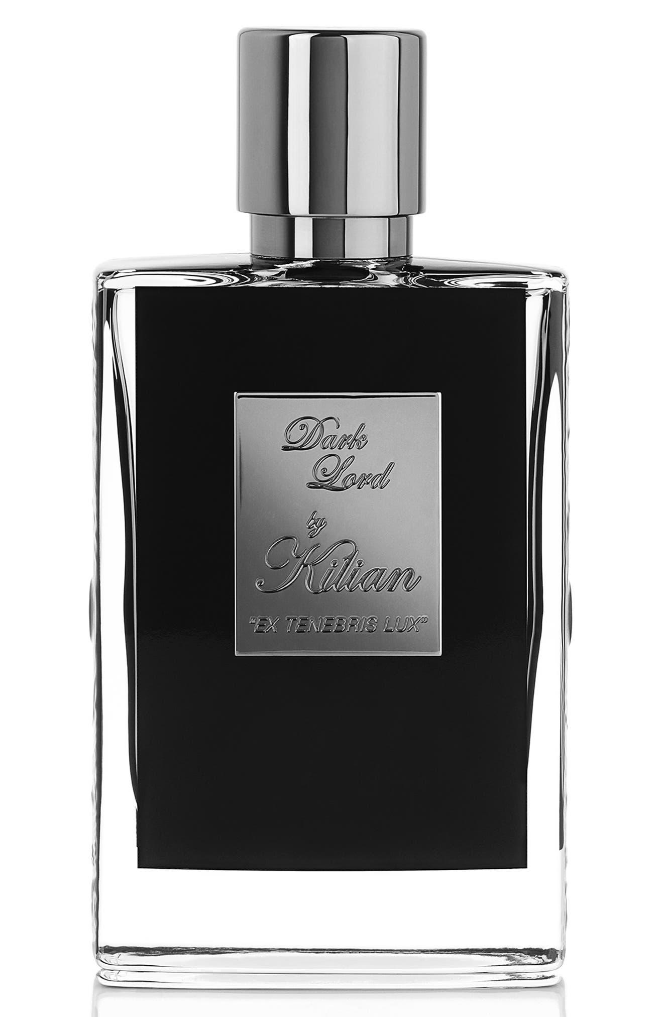 KILIAN, Dark Lord Ex Tenebris Lux Refillable Fragrance Spray, Main thumbnail 1, color, NO COLOR