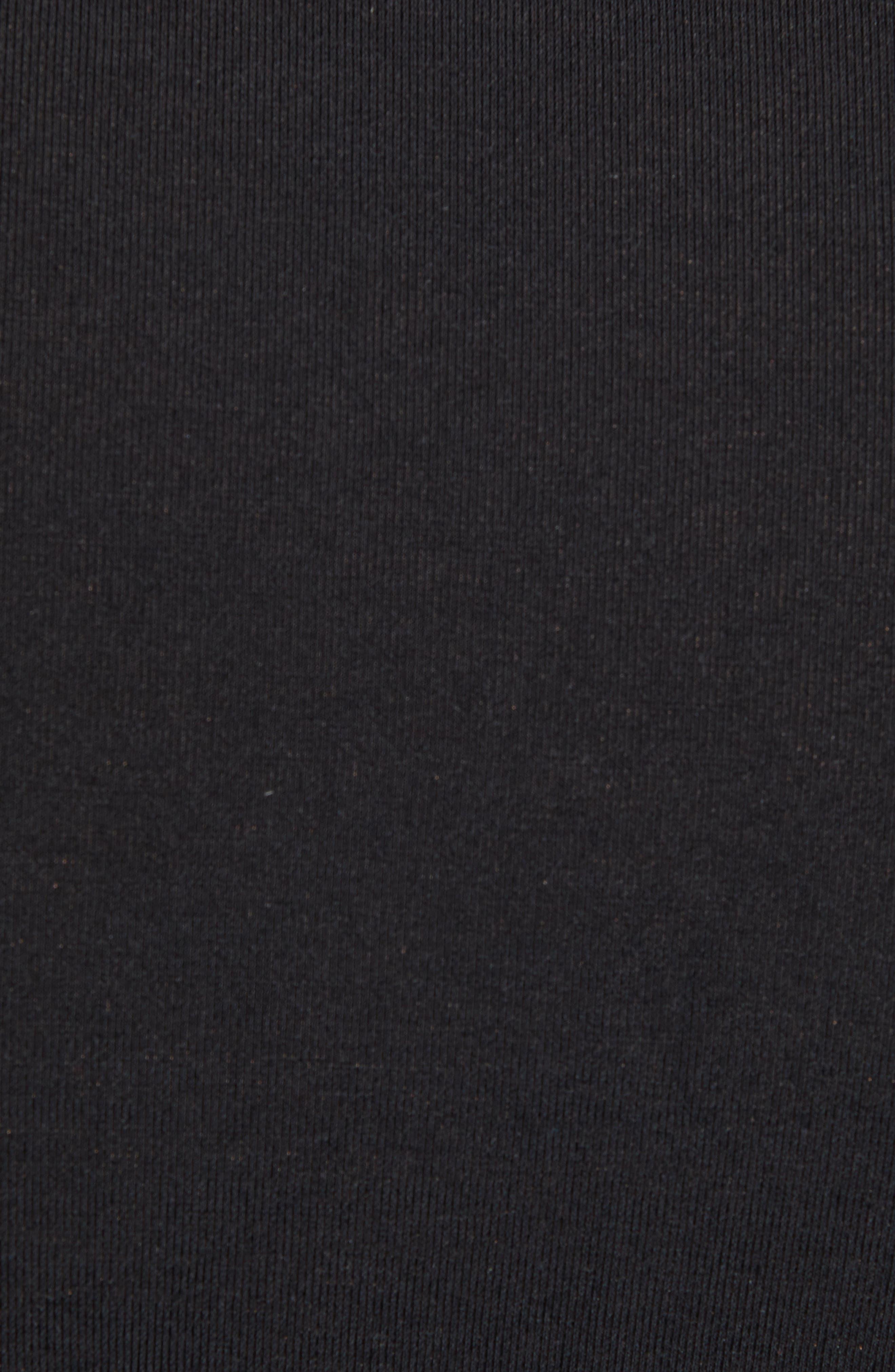 CALVIN KLEIN, Ultrasoft Stretch Modal Blend Crewneck T-Shirt, Alternate thumbnail 5, color, BLACK