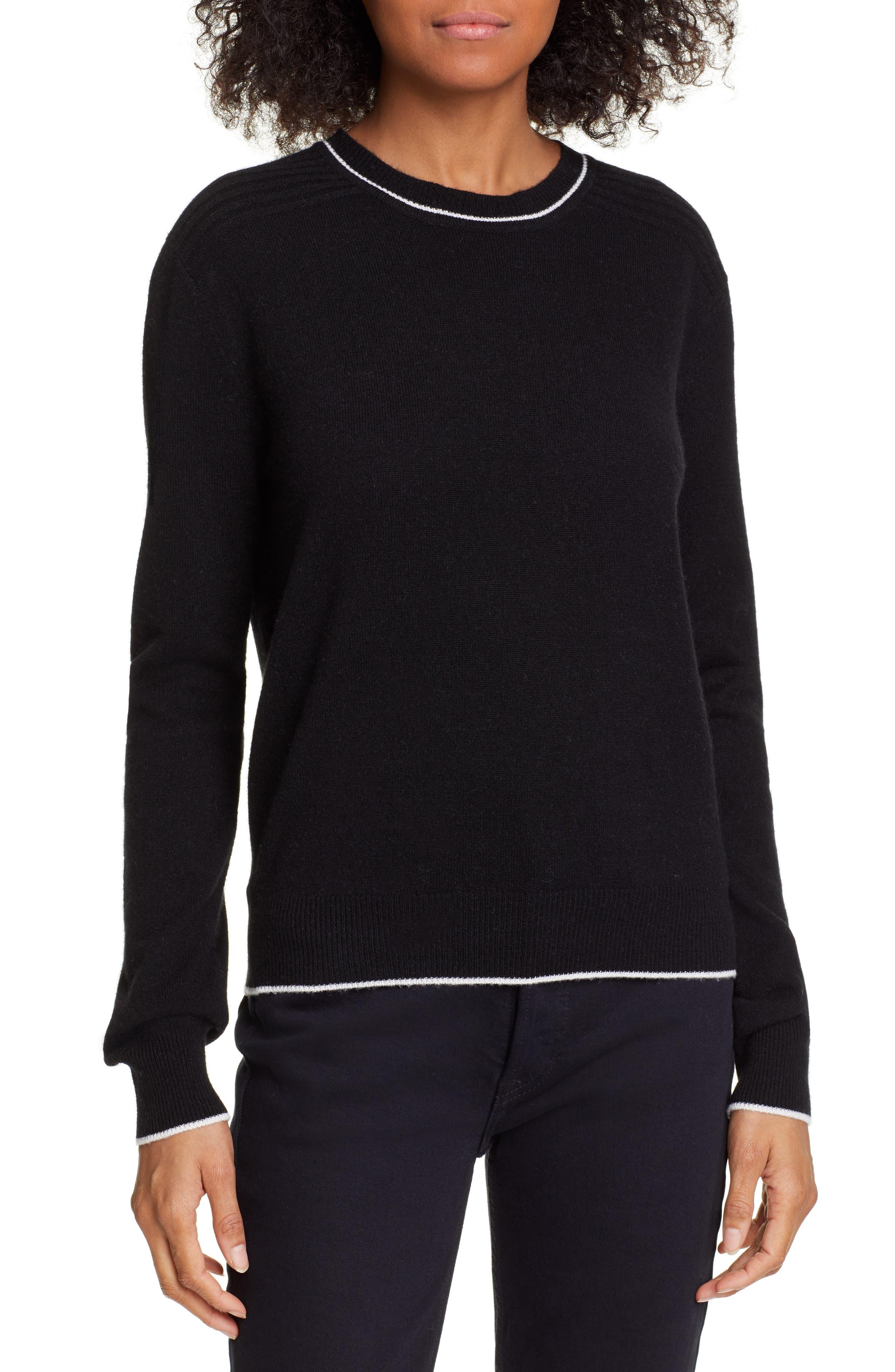 La Ligne Neat Wool & Cashmere Sweater, Black