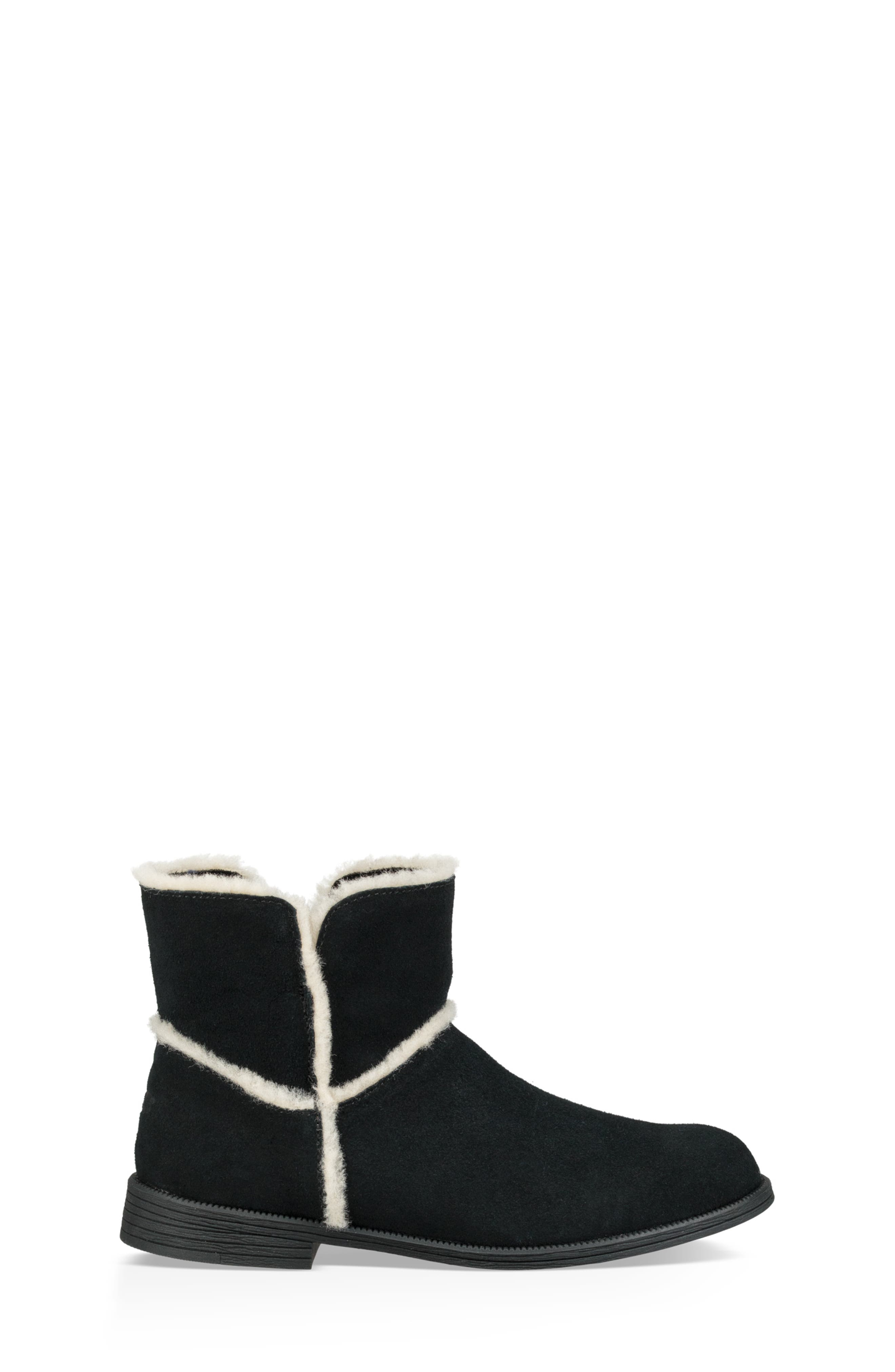 UGG<SUP>®</SUP>, Coletta Short Boot, Alternate thumbnail 3, color, BLACK