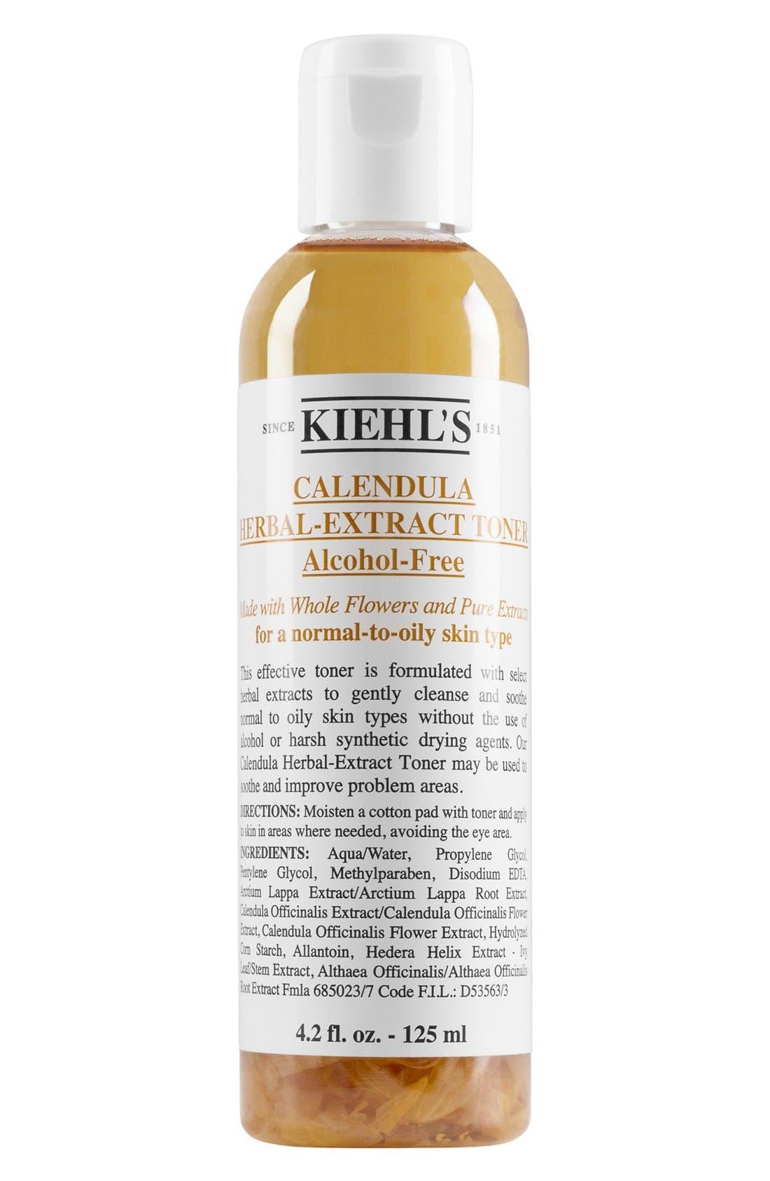 KIEHL'S SINCE 1851, Calendula Herbal Extract Alcohol Free Toner, Main thumbnail 1, color, NO COLOR