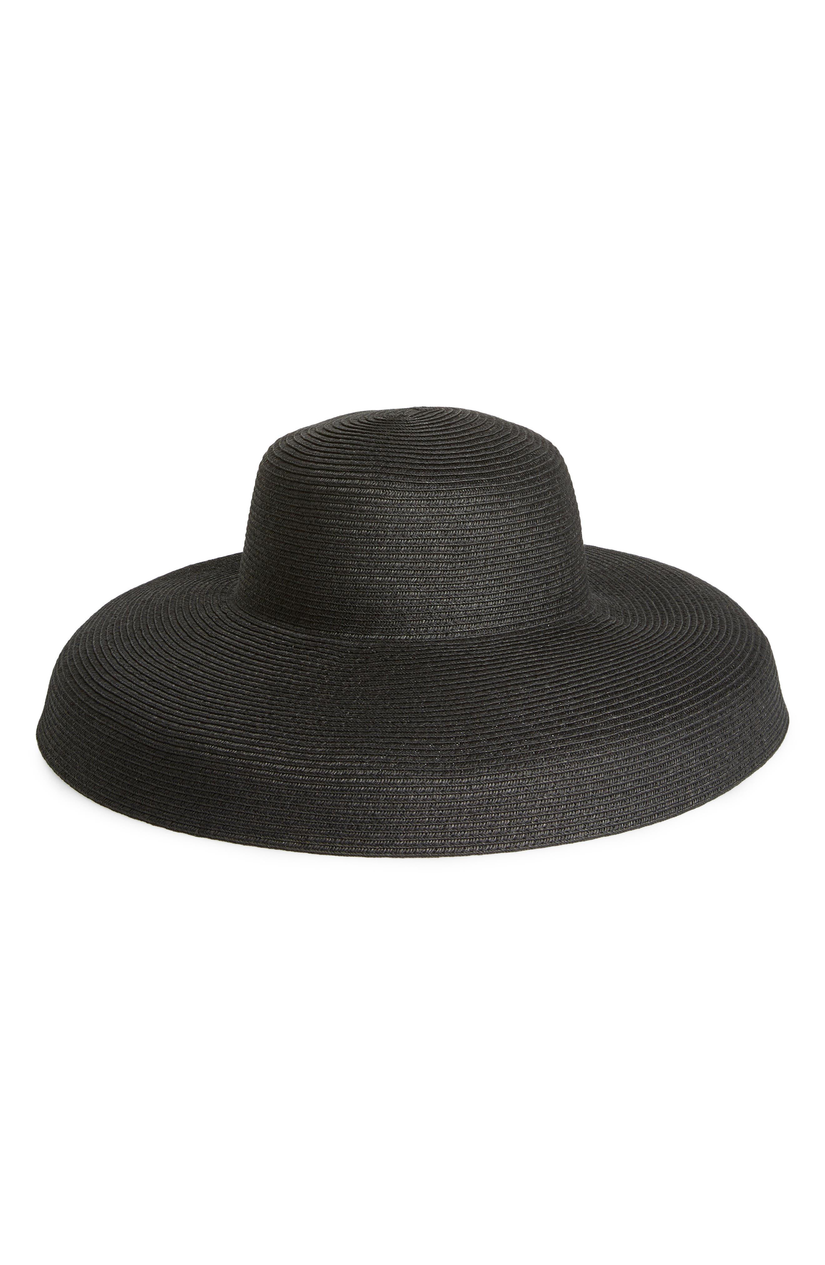 SAN DIEGO HAT Ultrabraid XL Brim Hat, Main, color, BLACK