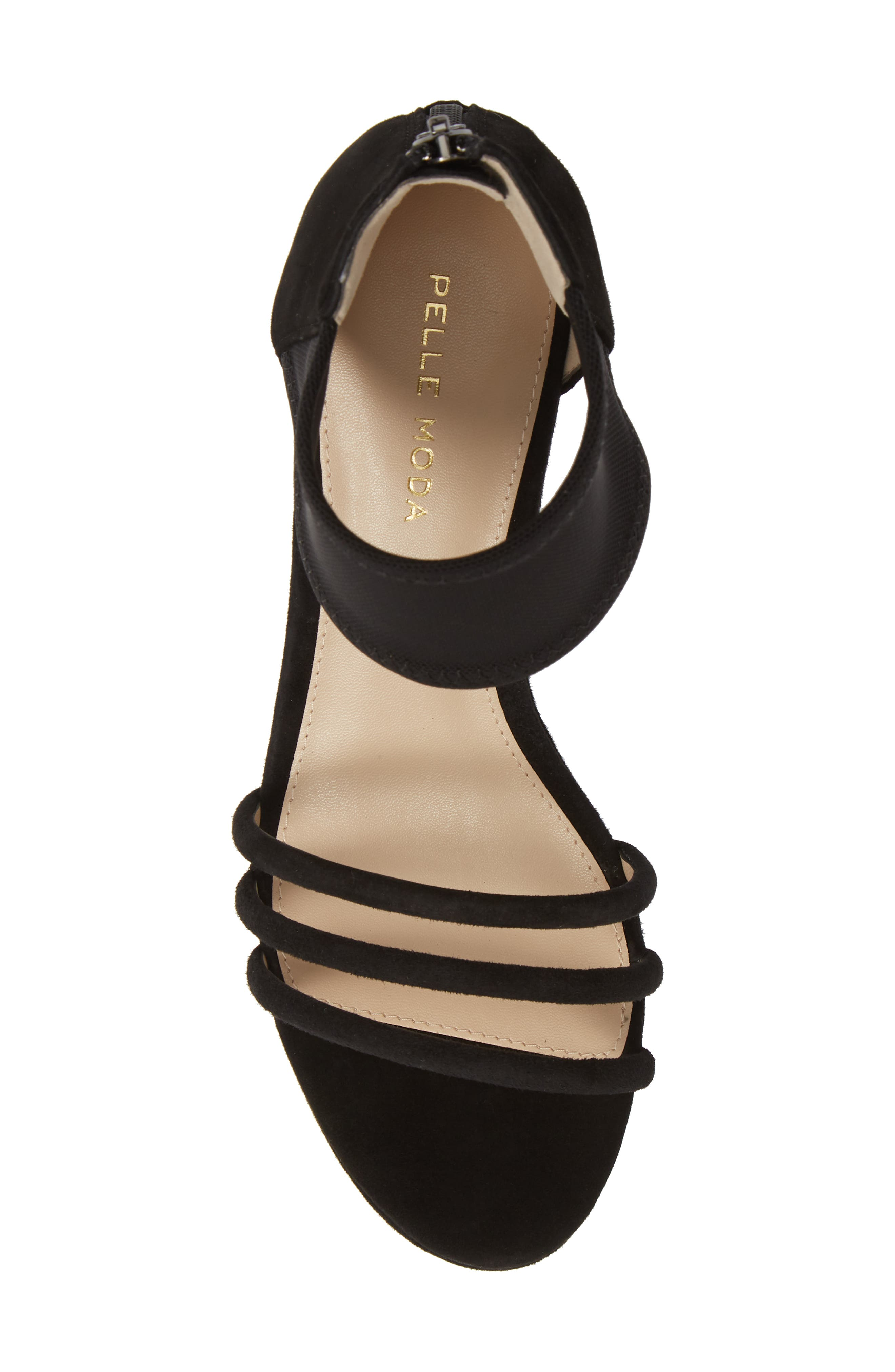 PELLE MODA, Katrice Platform Wedge Sandal, Alternate thumbnail 5, color, BLACK SUEDE