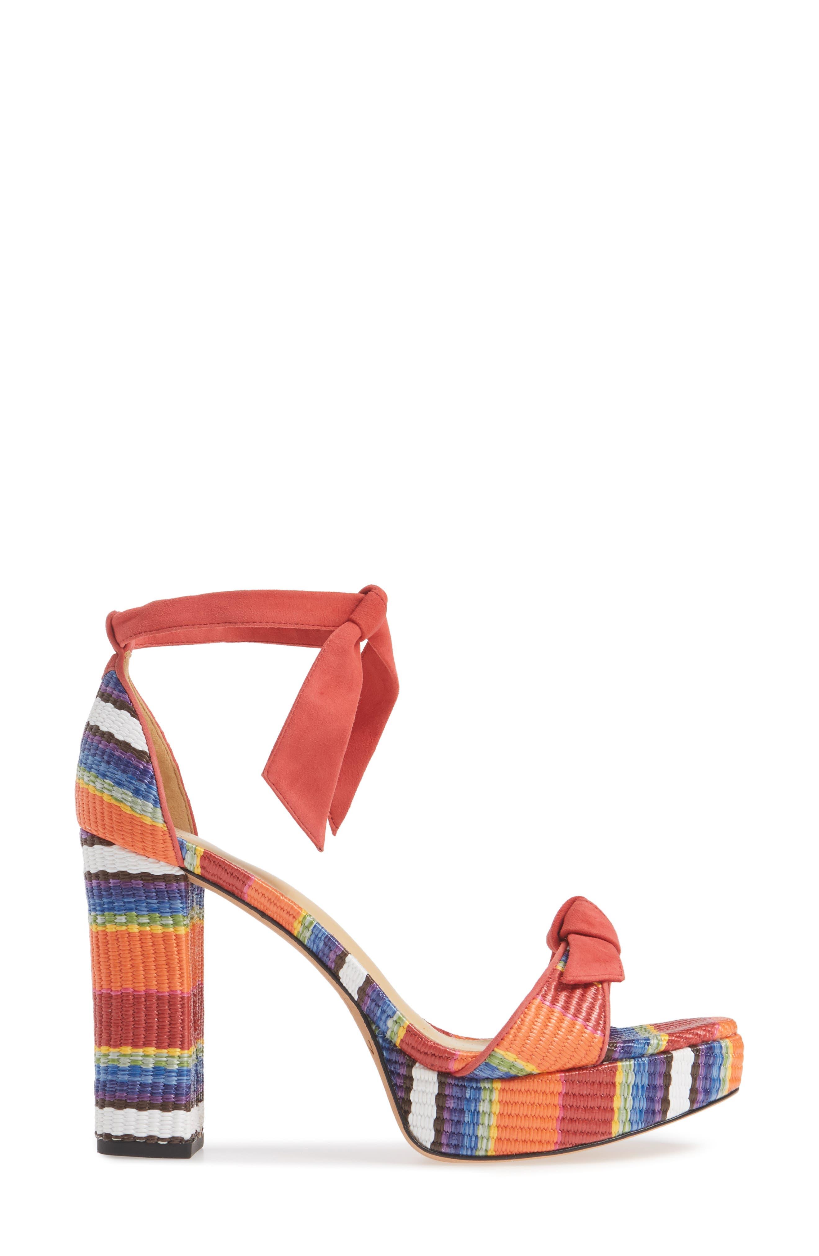 ALEXANDRE BIRMAN, Clarita Platform Sandal, Alternate thumbnail 3, color, CORAL MULTI