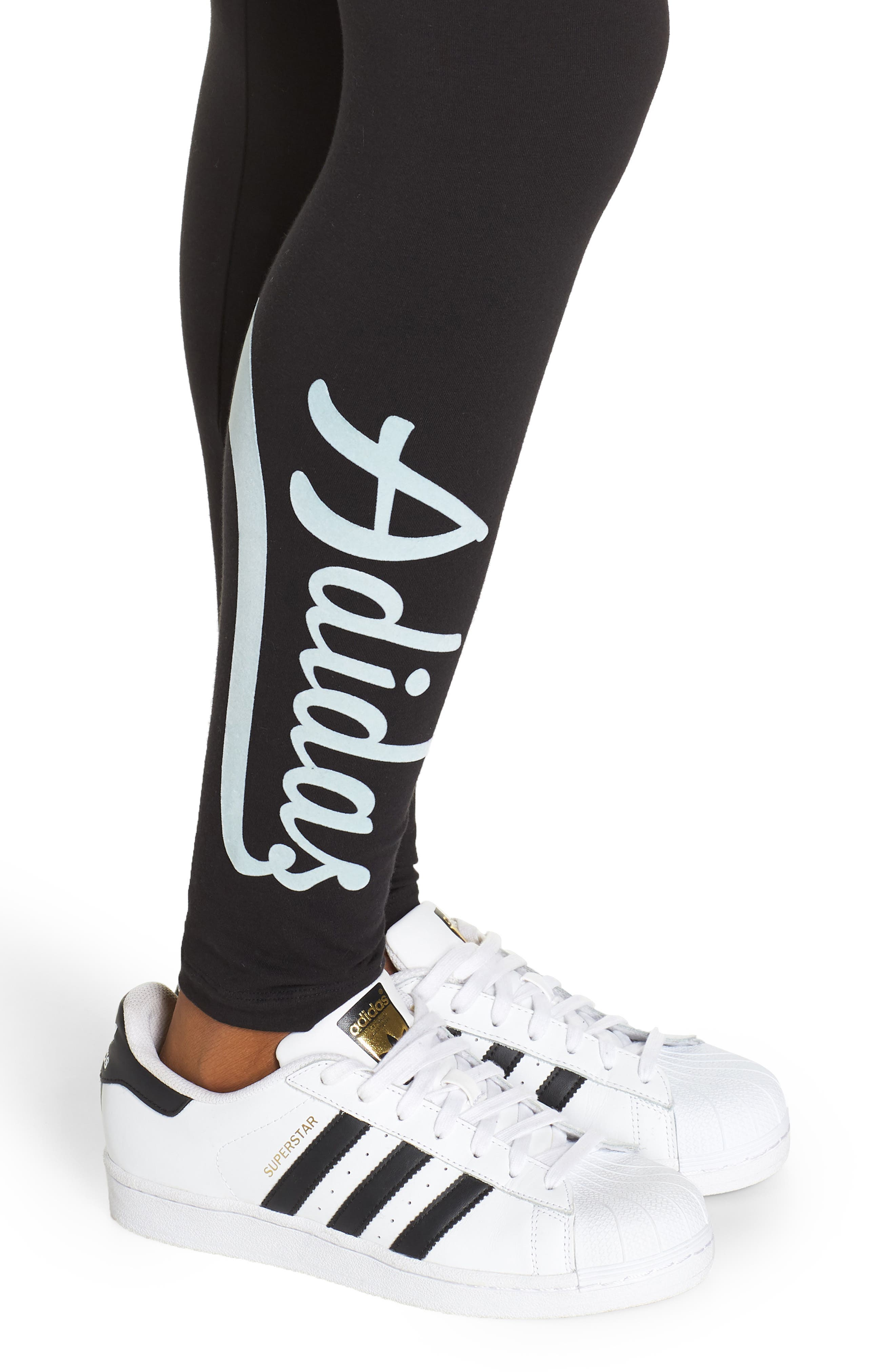 ADIDAS ORIGINALS, adidas 3-Stripes Tights, Alternate thumbnail 5, color, 002