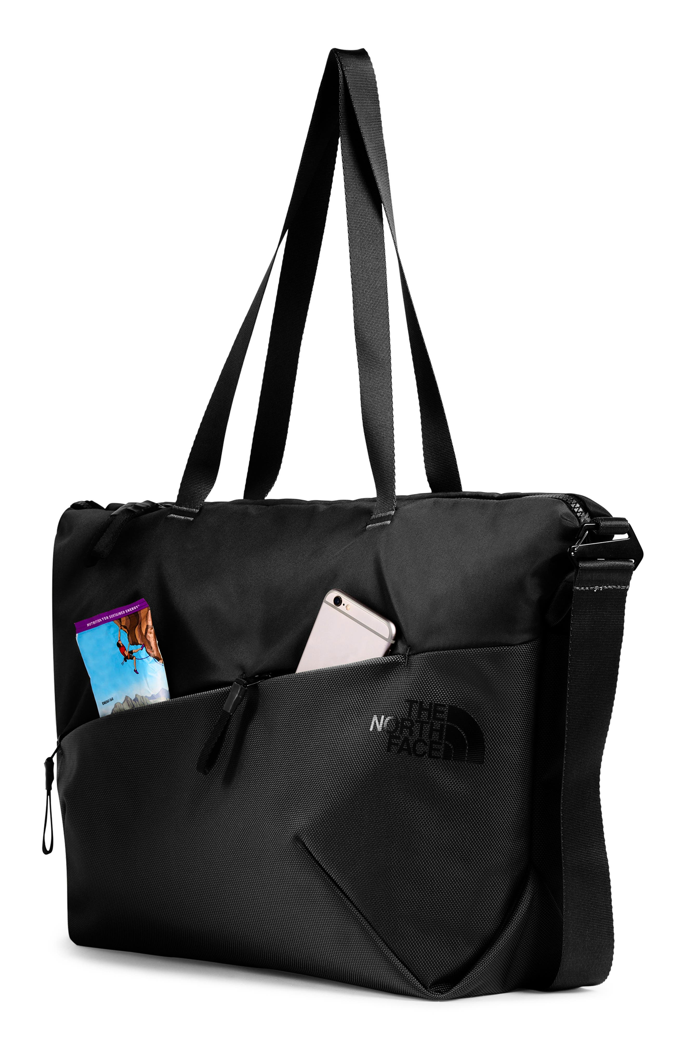 THE NORTH FACE, Electra Large Tote, Alternate thumbnail 4, color, 001