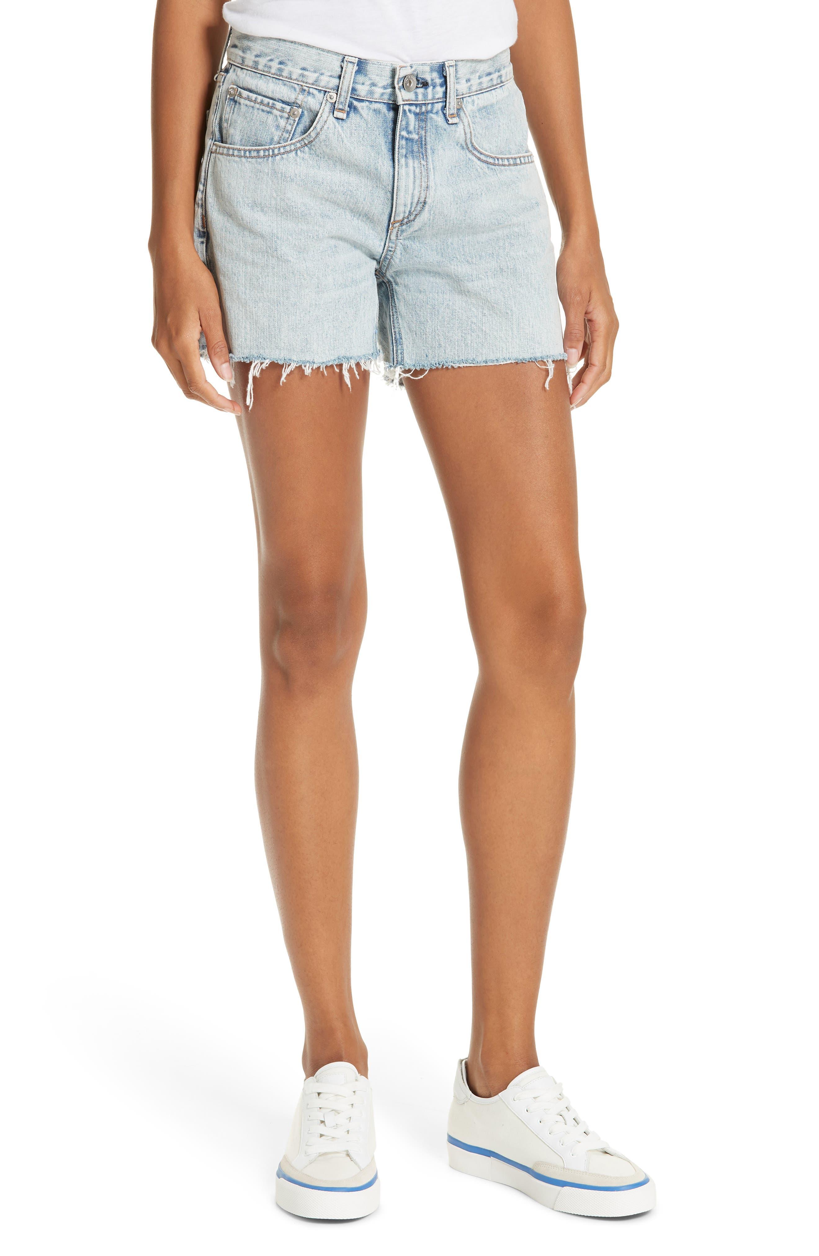 RAG & BONE JEAN Cutoff Boyfriend Shorts, Main, color, 420