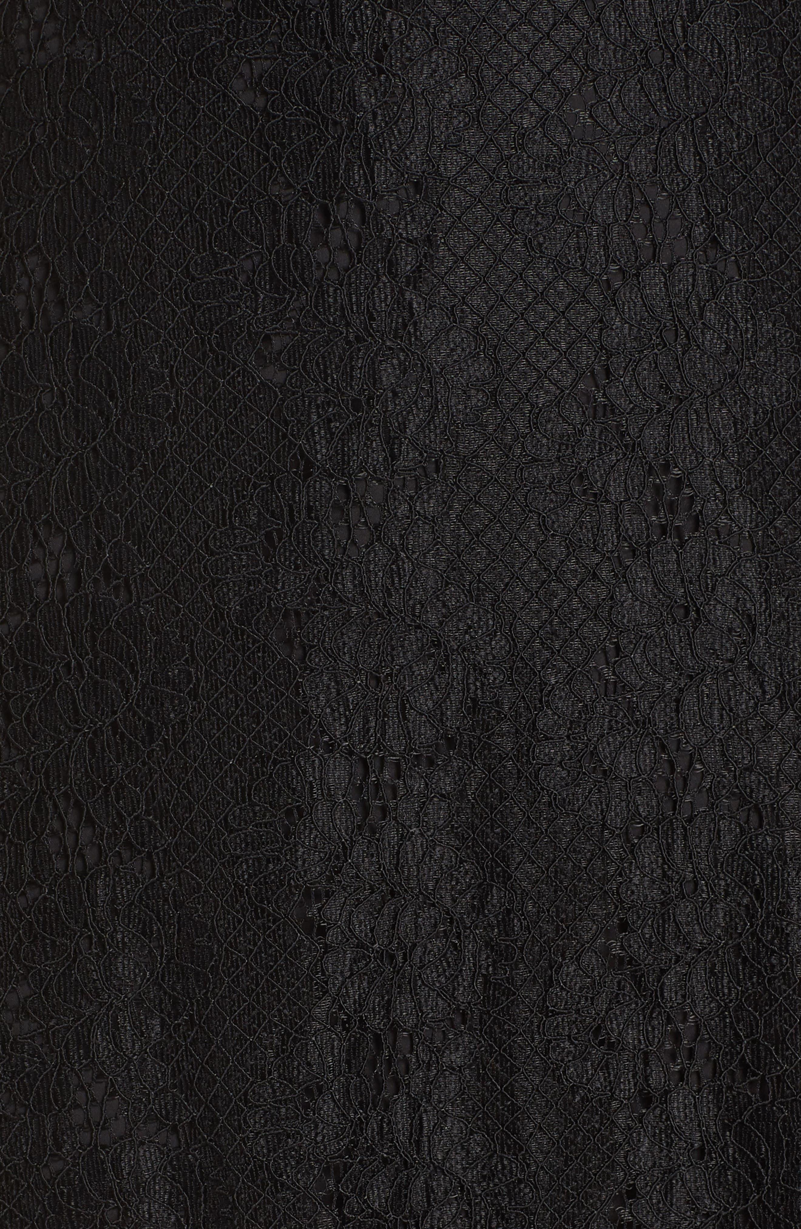 ALI & JAY, Return to Love Lace Maxi Dress, Alternate thumbnail 6, color, BLACK