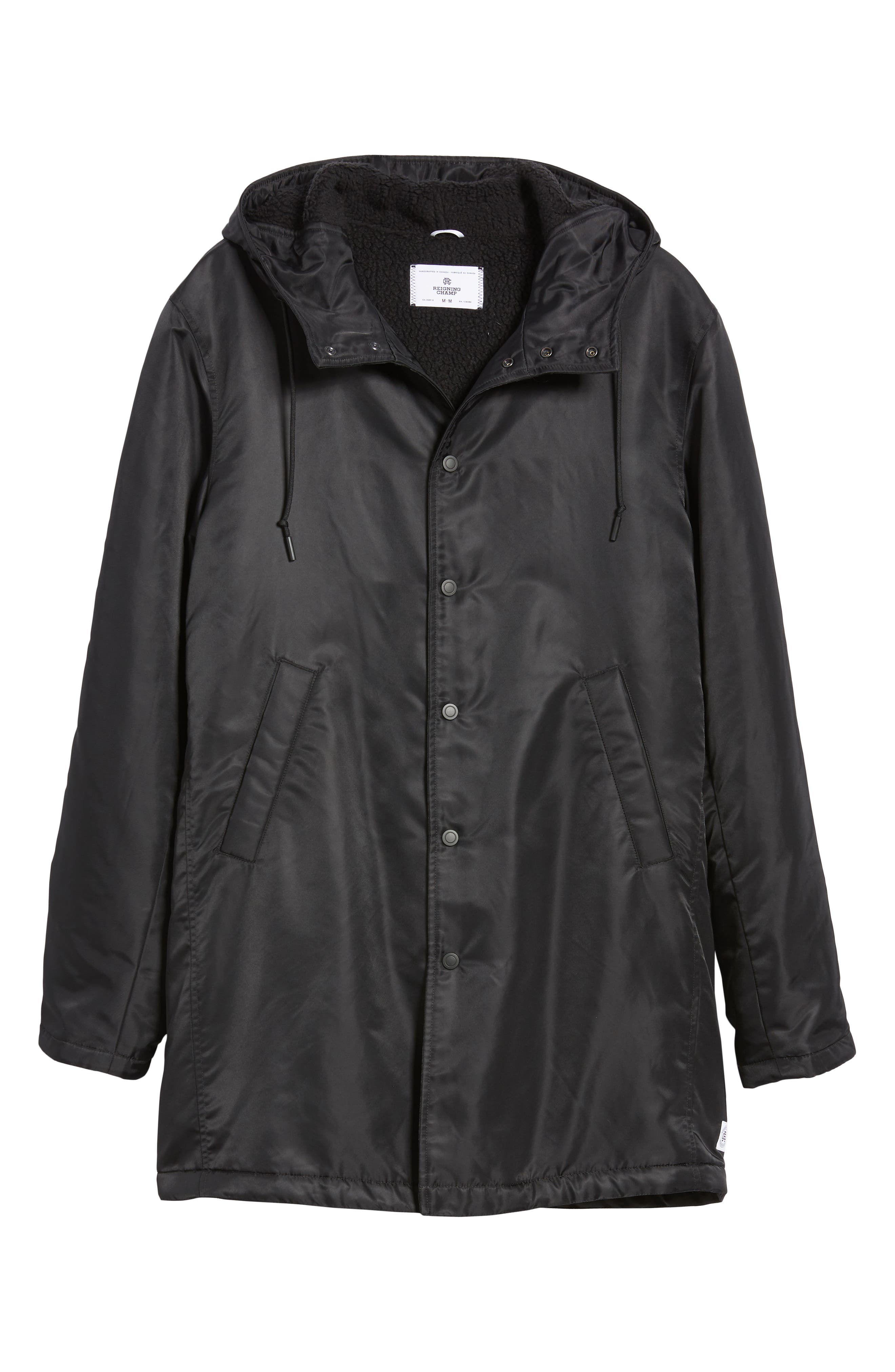 REIGNING CHAMP, Water Resistant Insulated Parka, Alternate thumbnail 6, color, 001
