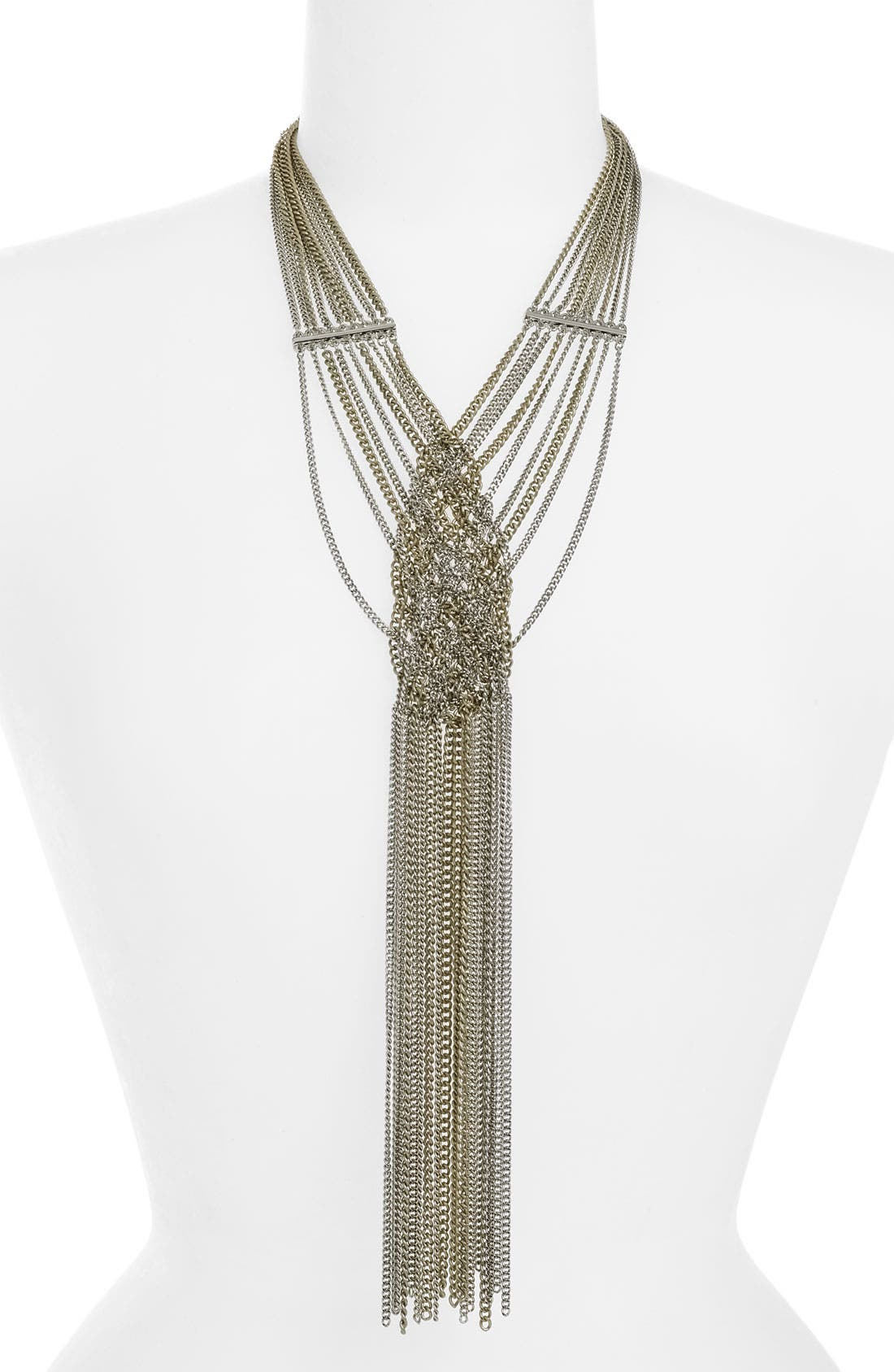BCBGENERATION, 'Adele' Multi Chain Y-Necklace, Main thumbnail 1, color, 041