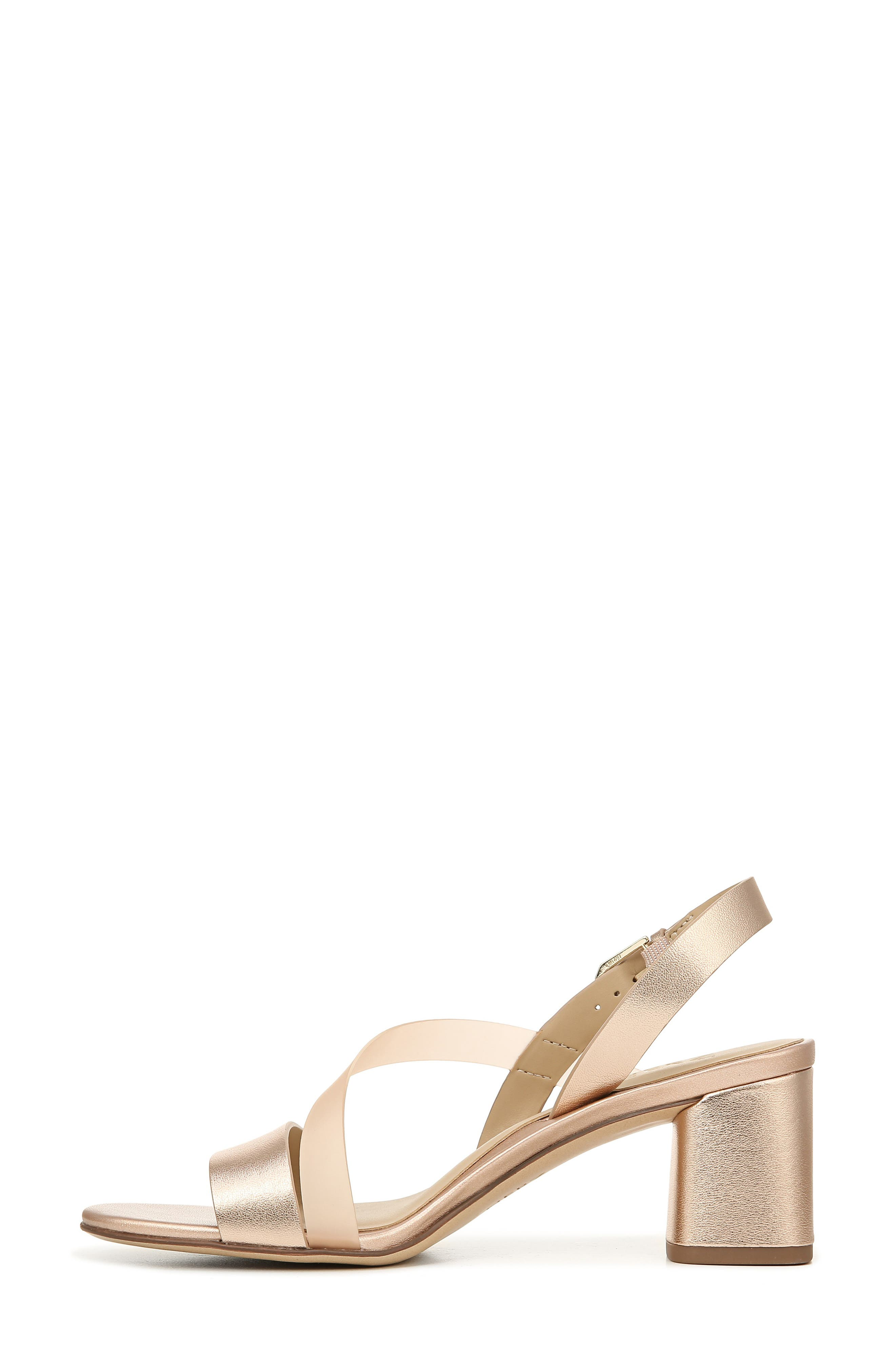 NATURALIZER, Arianna Block Heel Sandal, Alternate thumbnail 9, color, ROSE GOLD LEATHER