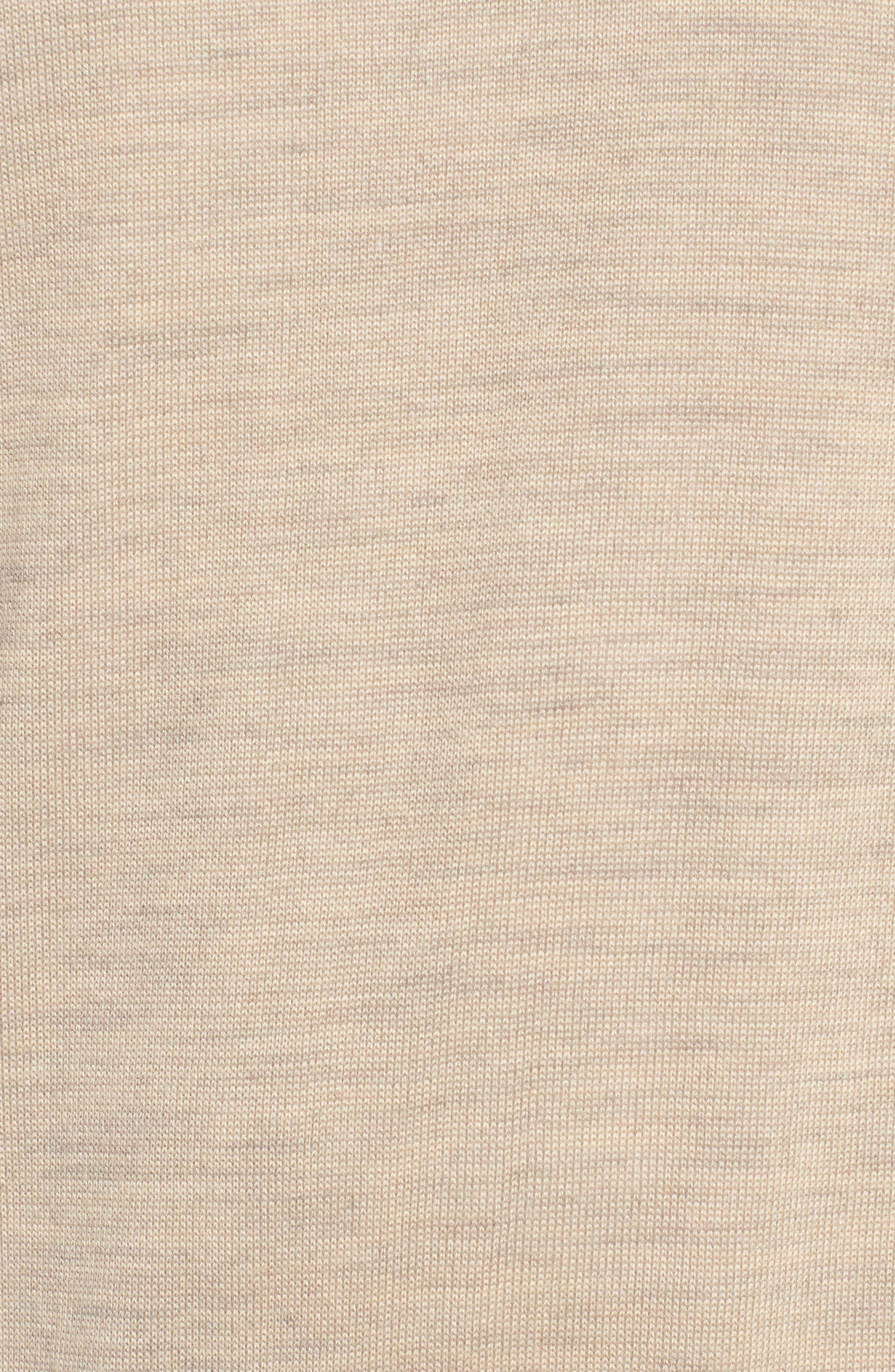 CUTTER & BUCK, 'Douglas' Merino Wool Blend V-Neck Sweater, Alternate thumbnail 5, color, SAND HEATHER