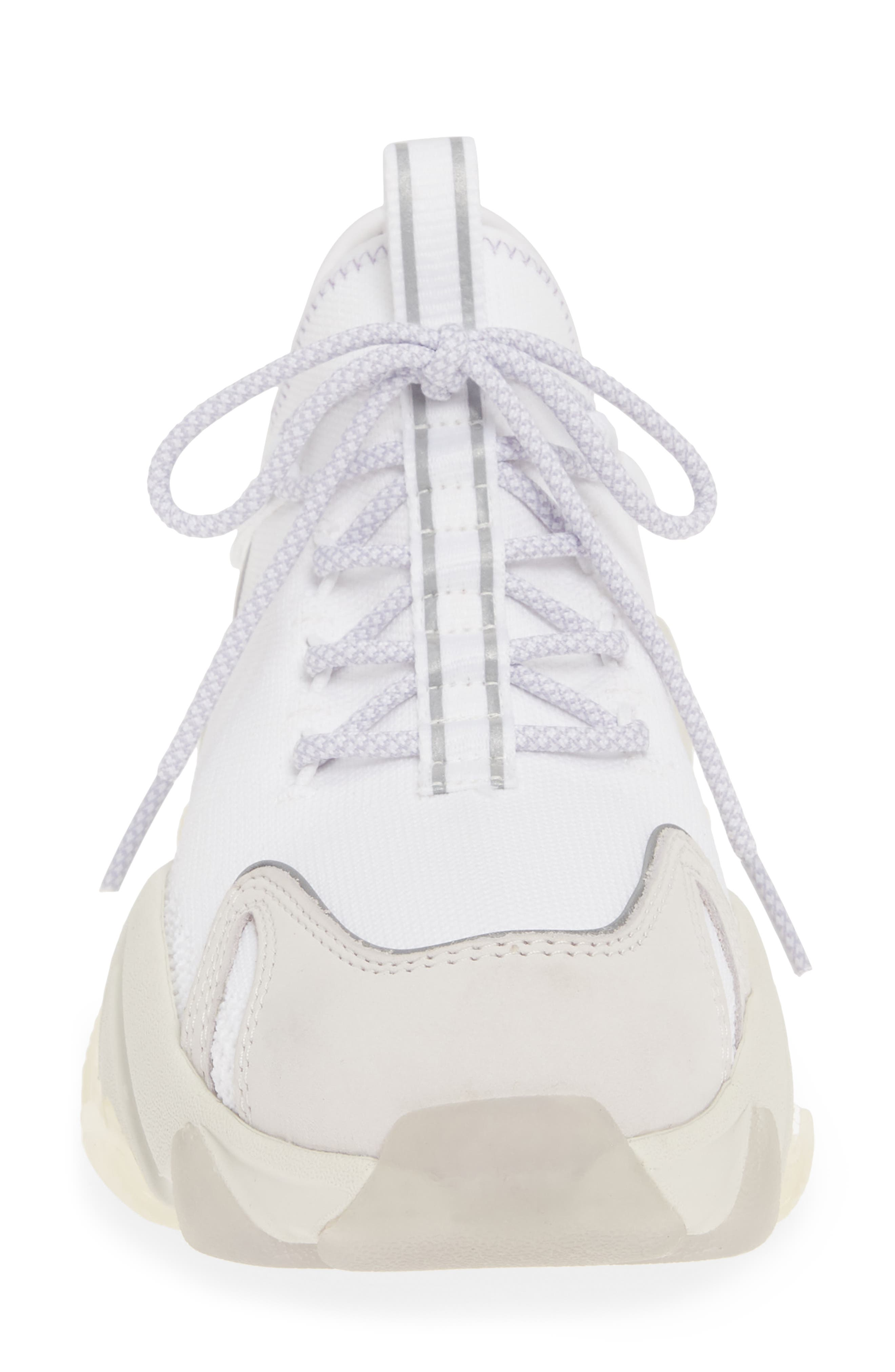 ASH, Excape Sneaker, Alternate thumbnail 4, color, WHITE/ SILVER/ LAVENDER FABRIC