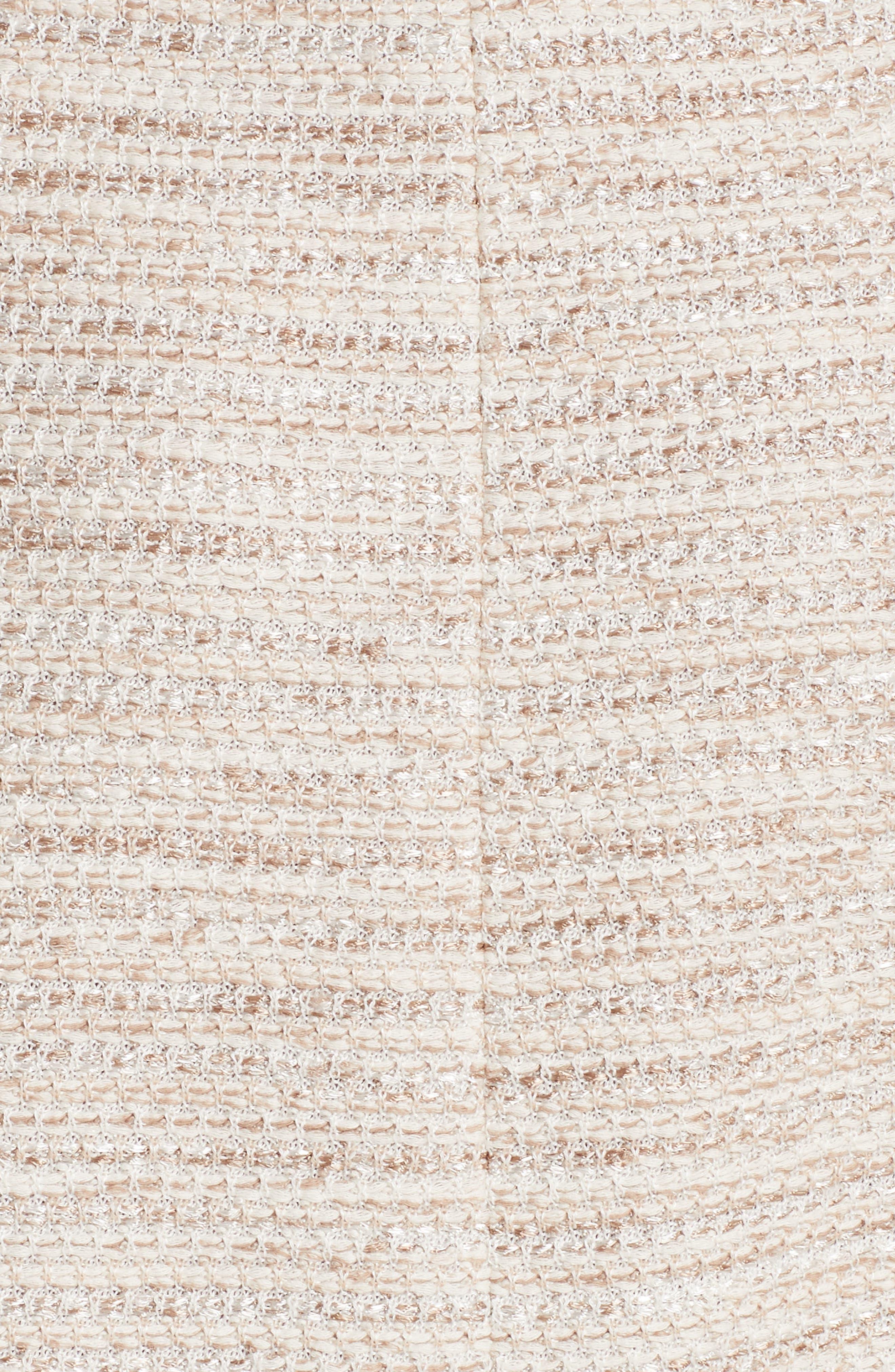 ST. JOHN COLLECTION, Dune Inlay Knit Sheath Dress, Alternate thumbnail 6, color, HAZELNUT MULTI