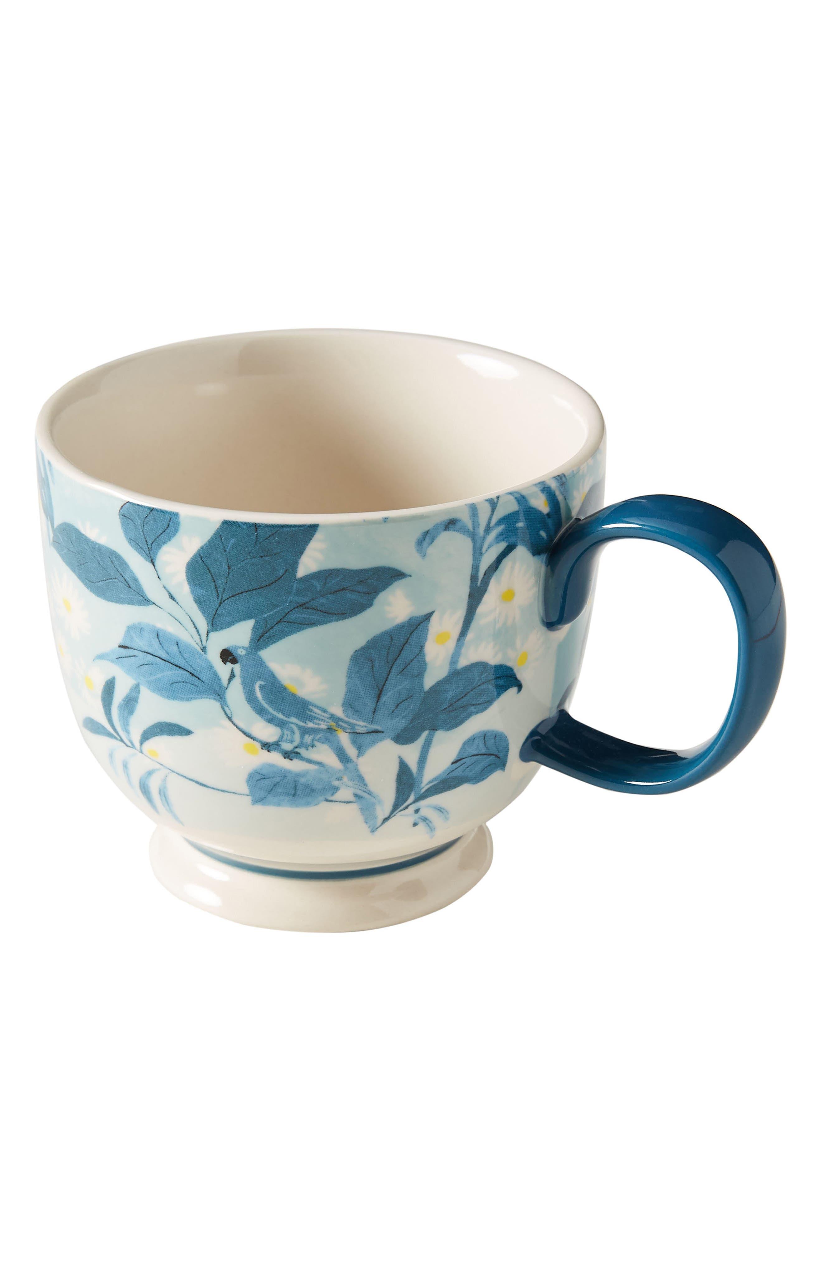 ANTHROPOLOGIE, Paule Marrot Set of 4 Mugs, Alternate thumbnail 3, color, COMBO C-BLUE