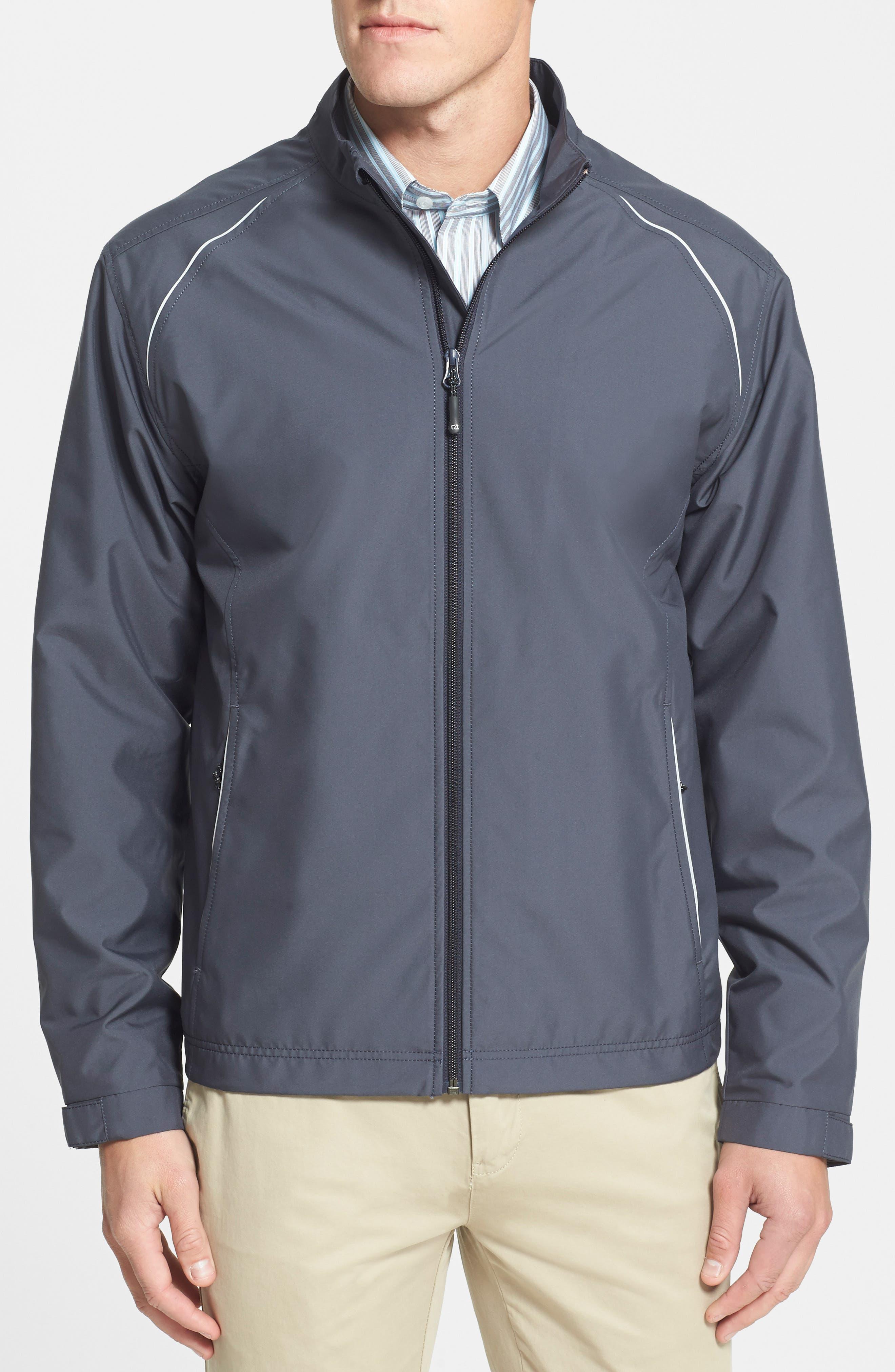CUTTER & BUCK, Beacon WeatherTec Wind & Water Resistant Jacket, Alternate thumbnail 3, color, ONYX GREY