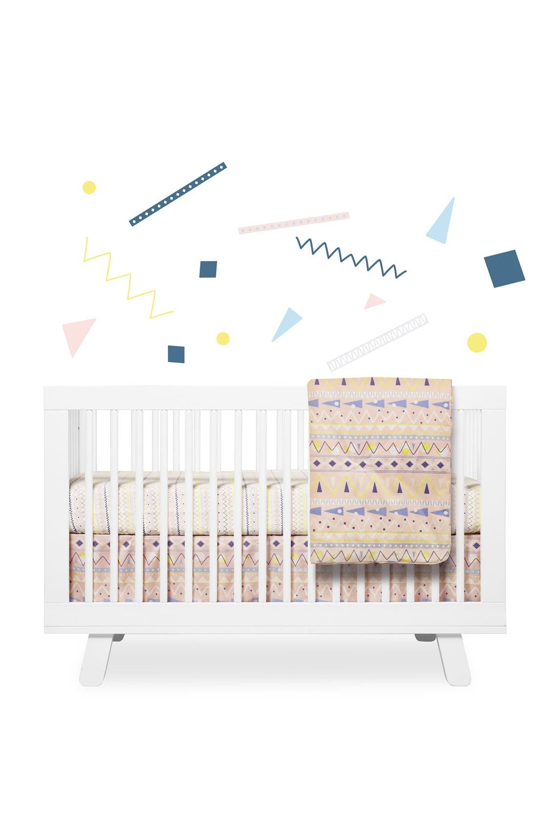 BABYLETTO, 'Desert' Crib Sheet, Crib Skirt, Changing Pad Cover, Blanket & Wall Decals, Main thumbnail 1, color, 900