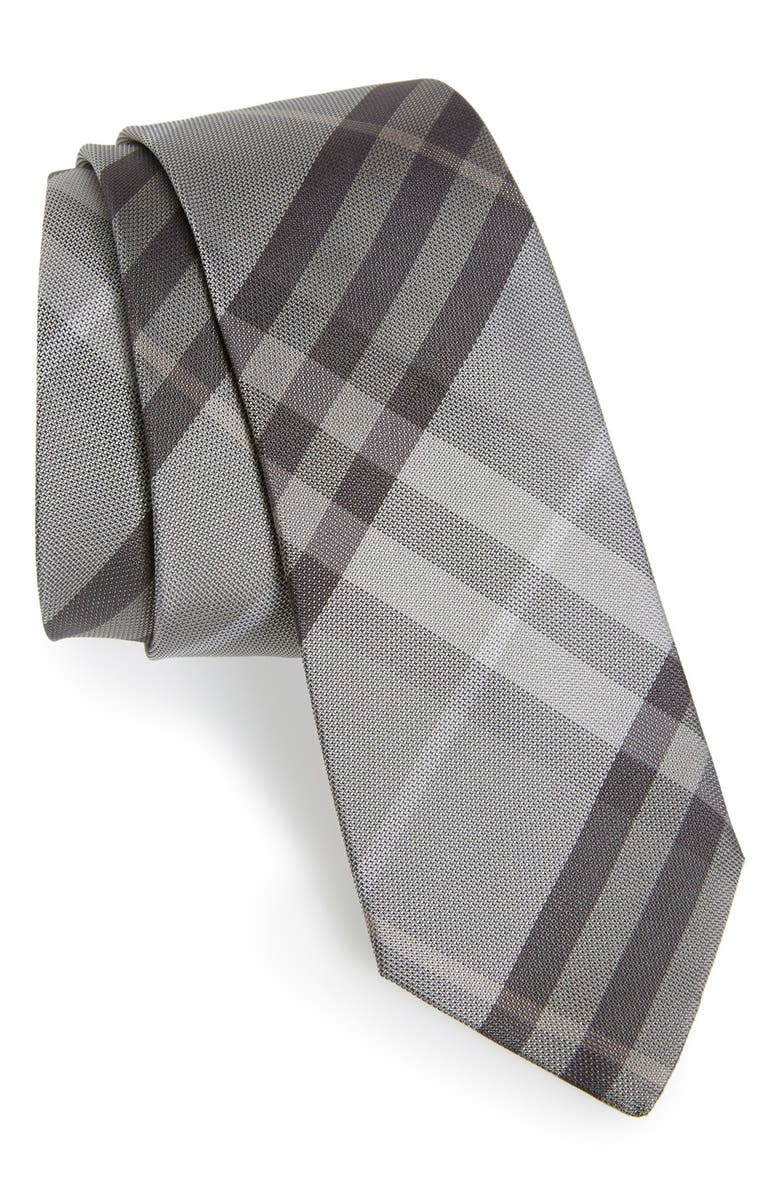 33042f8bbbf0 BURBERRY 'Manston' Check Silk Tie, Main, color, ...