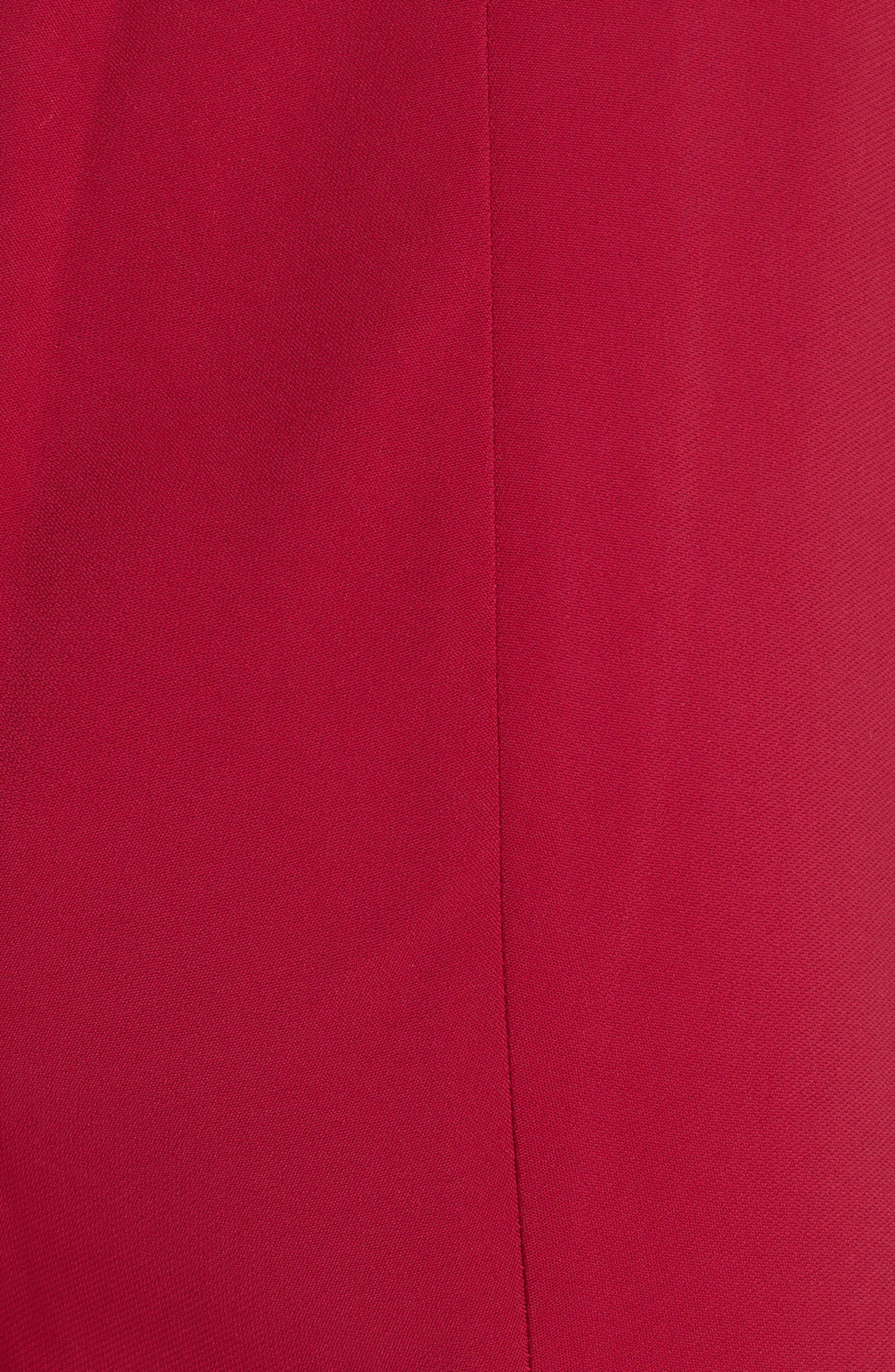CUSHNIE, High Waist Pants, Alternate thumbnail 5, color, CAMELLIA