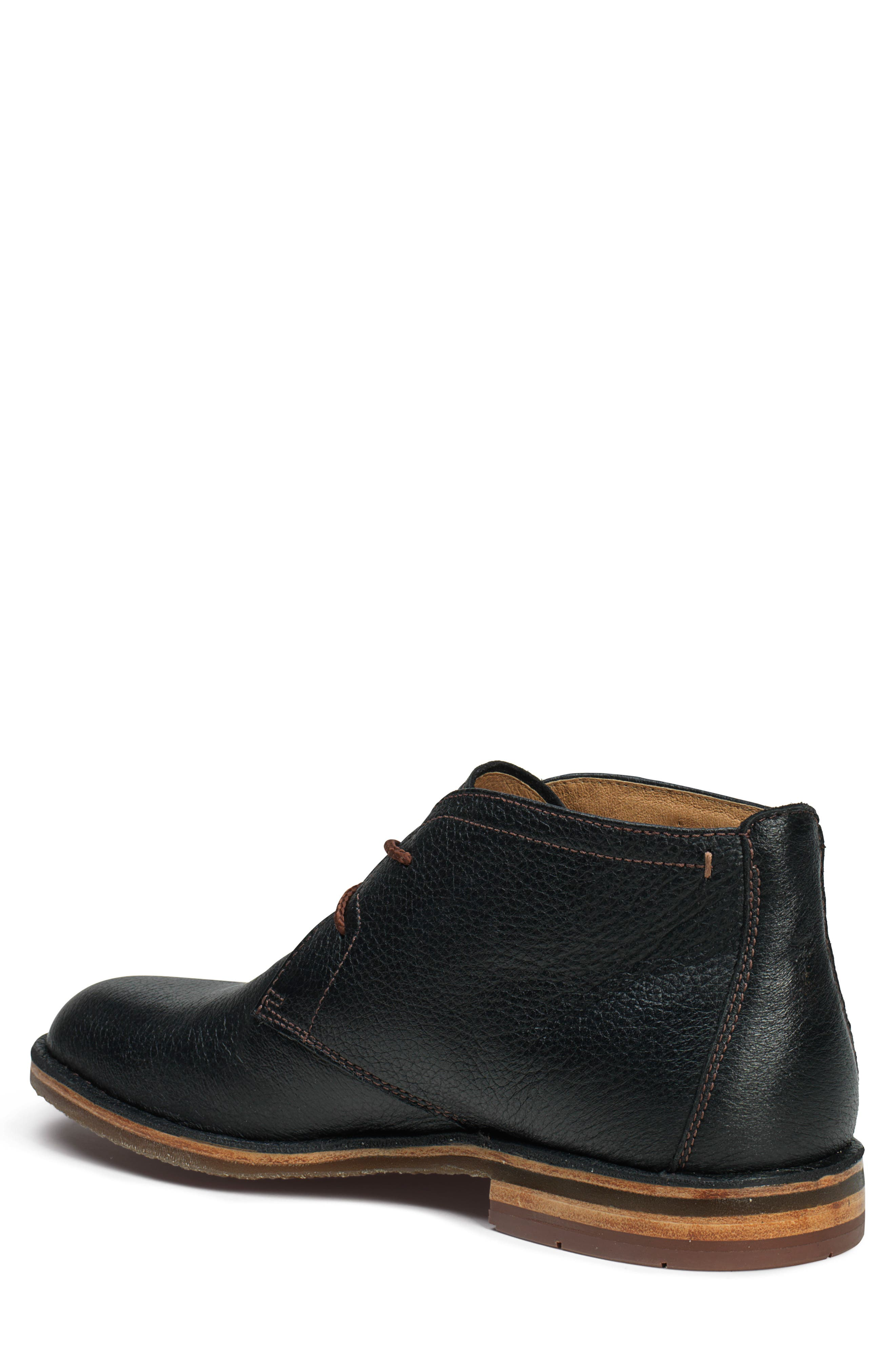 TRASK, 'Brady' Chukka Boot, Alternate thumbnail 6, color, BLACK NORWEGIAN ELK