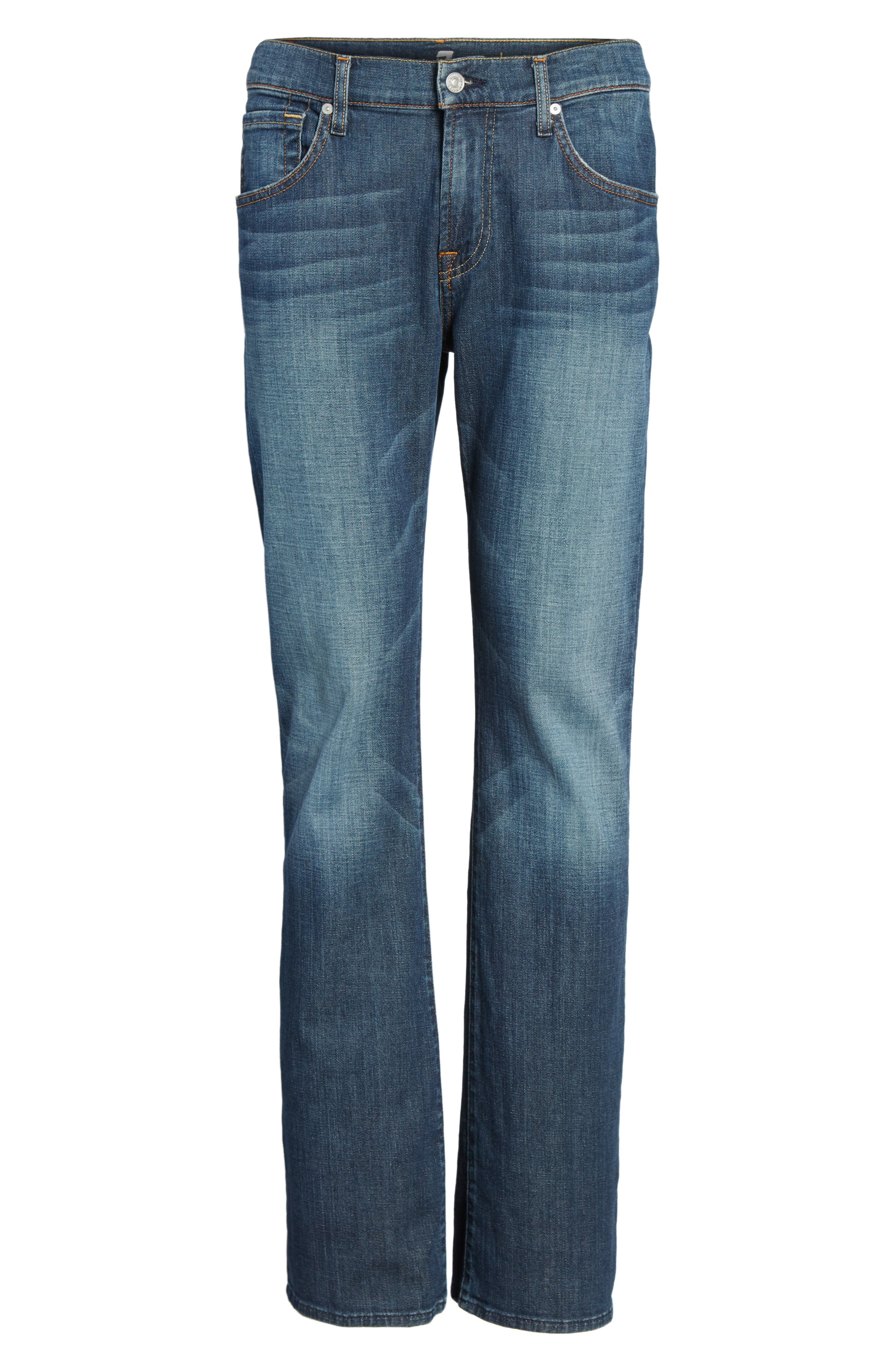7 FOR ALL MANKIND<SUP>®</SUP>, Brett Bootcut Jeans, Alternate thumbnail 7, color, DARK NEW YORK
