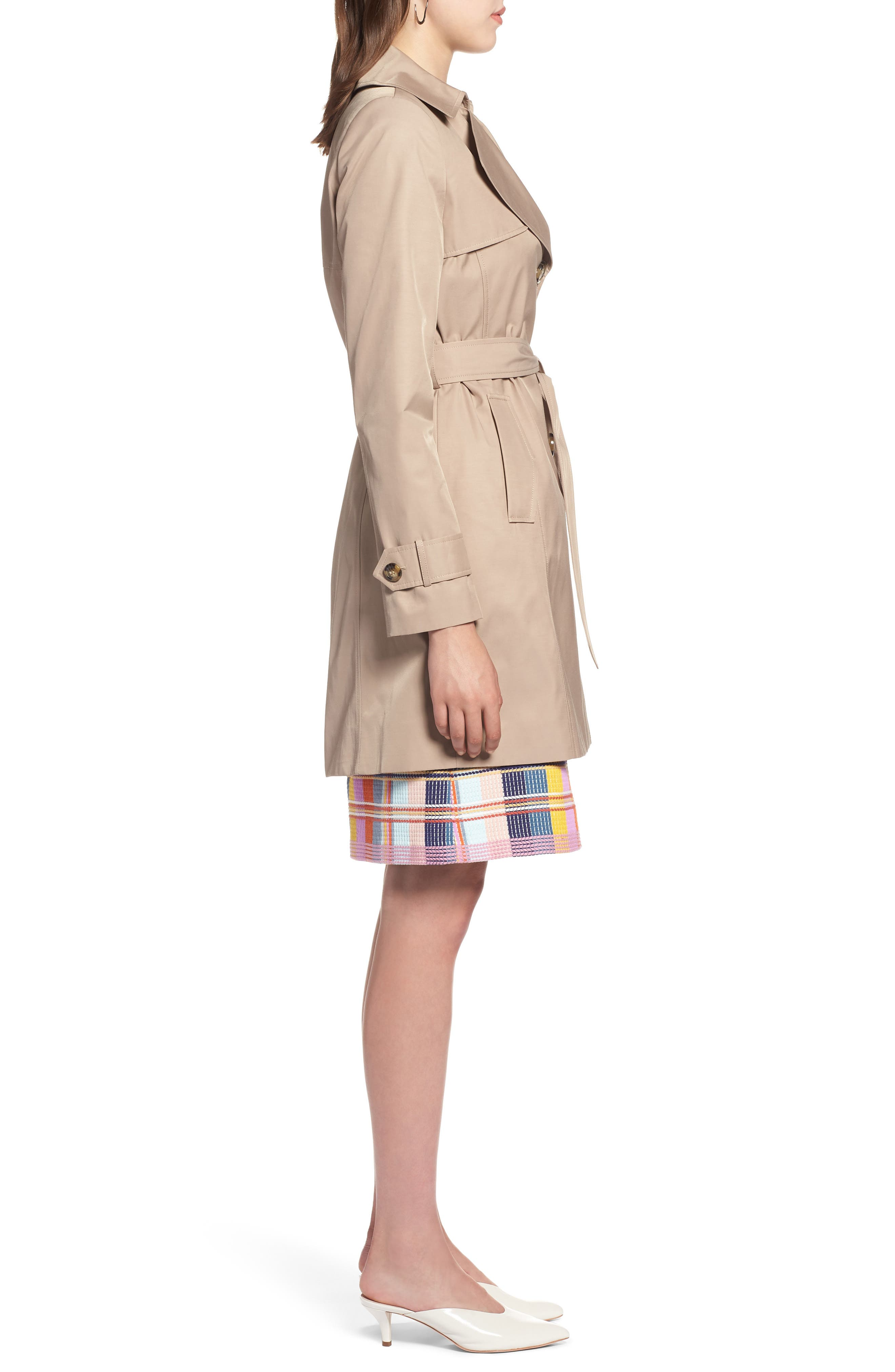 HALOGEN<SUP>®</SUP>, Hooded Trench Coat, Alternate thumbnail 4, color, 299