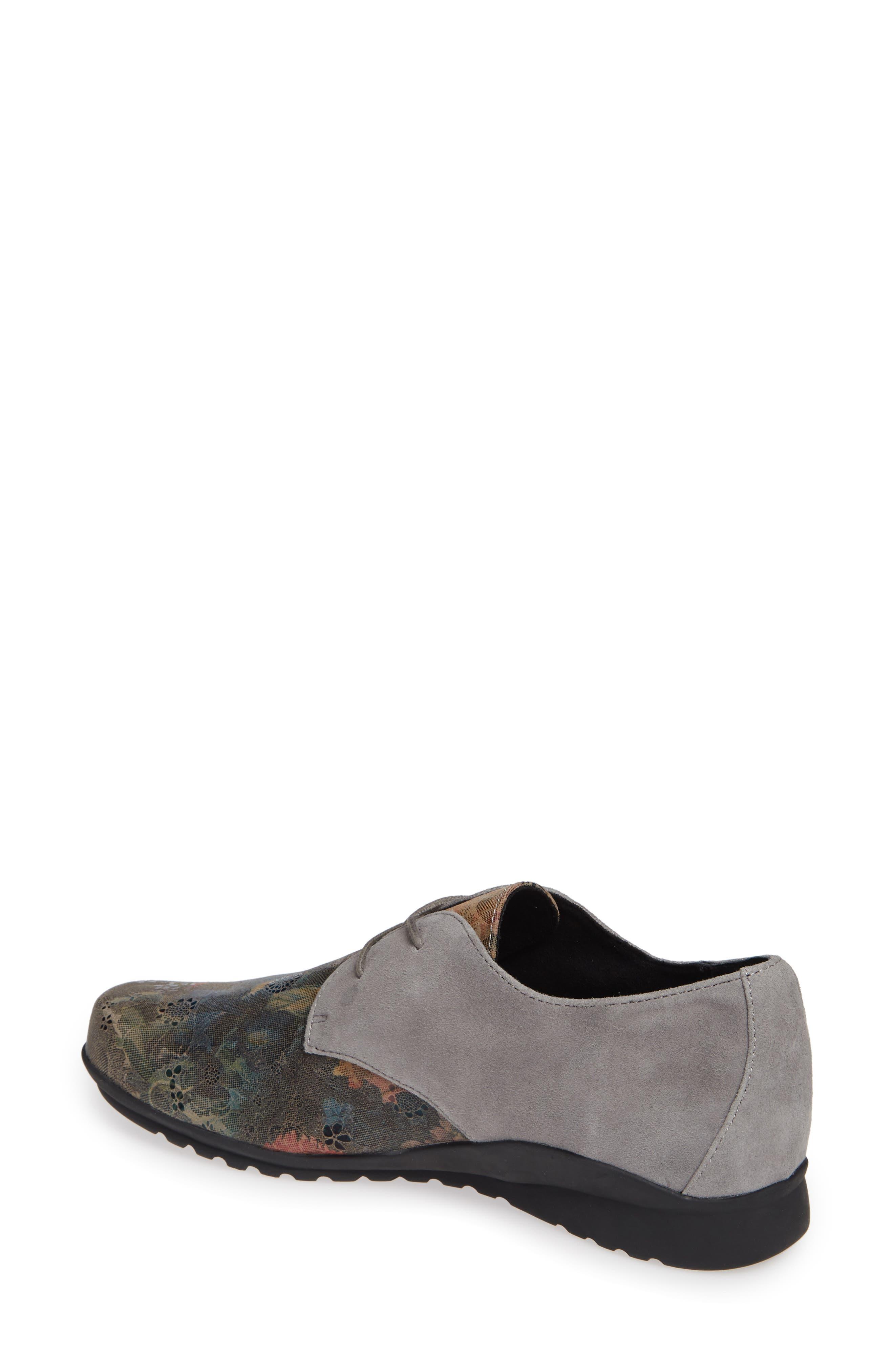 AETREX, Erin Saddle Shoe, Alternate thumbnail 2, color, CHARCOAL LEATHER