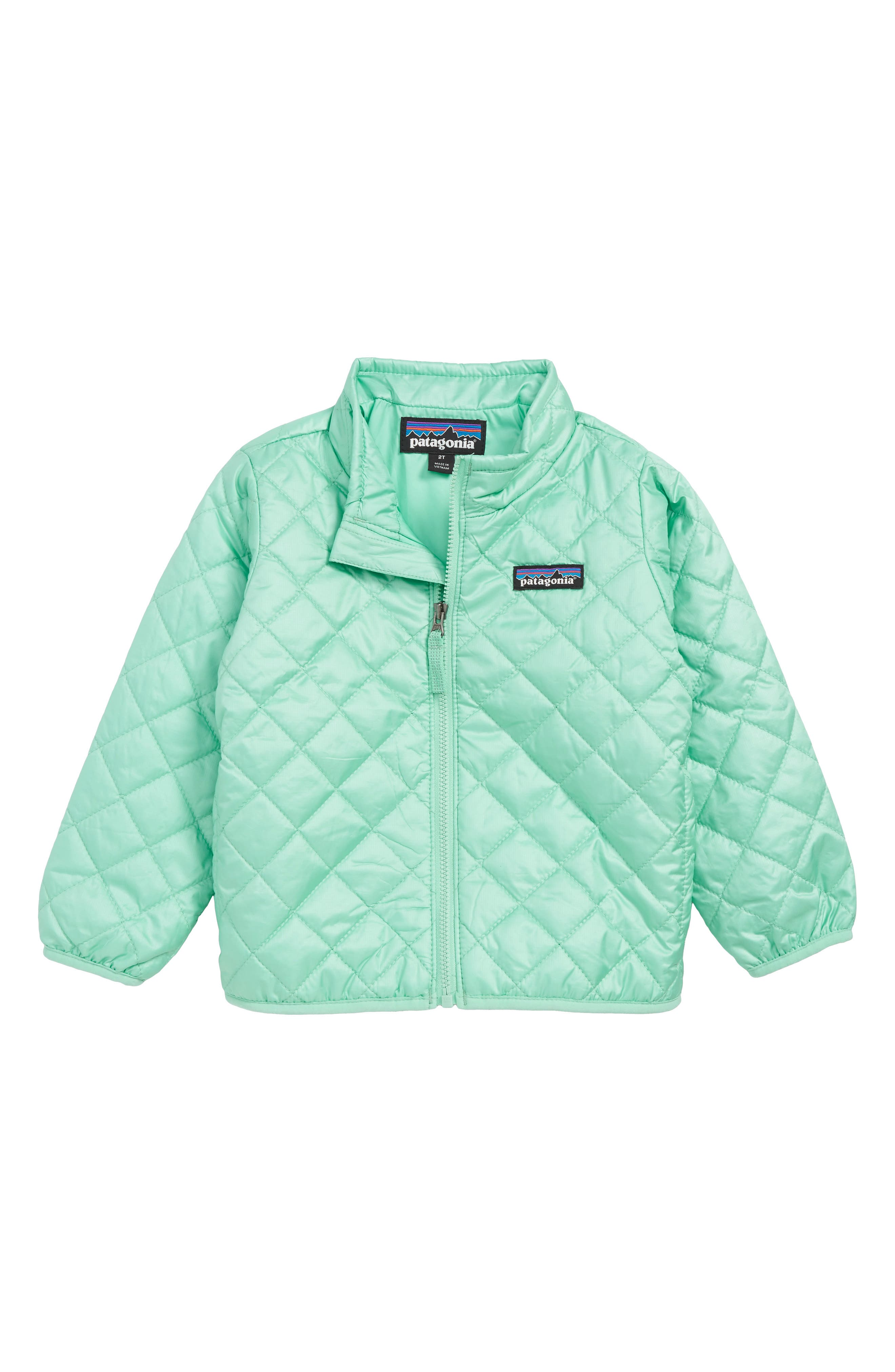 PATAGONIA Nano Puff<sup>®</sup> Quilted Water Resistant Jacket, Main, color, VJOSA GREEN