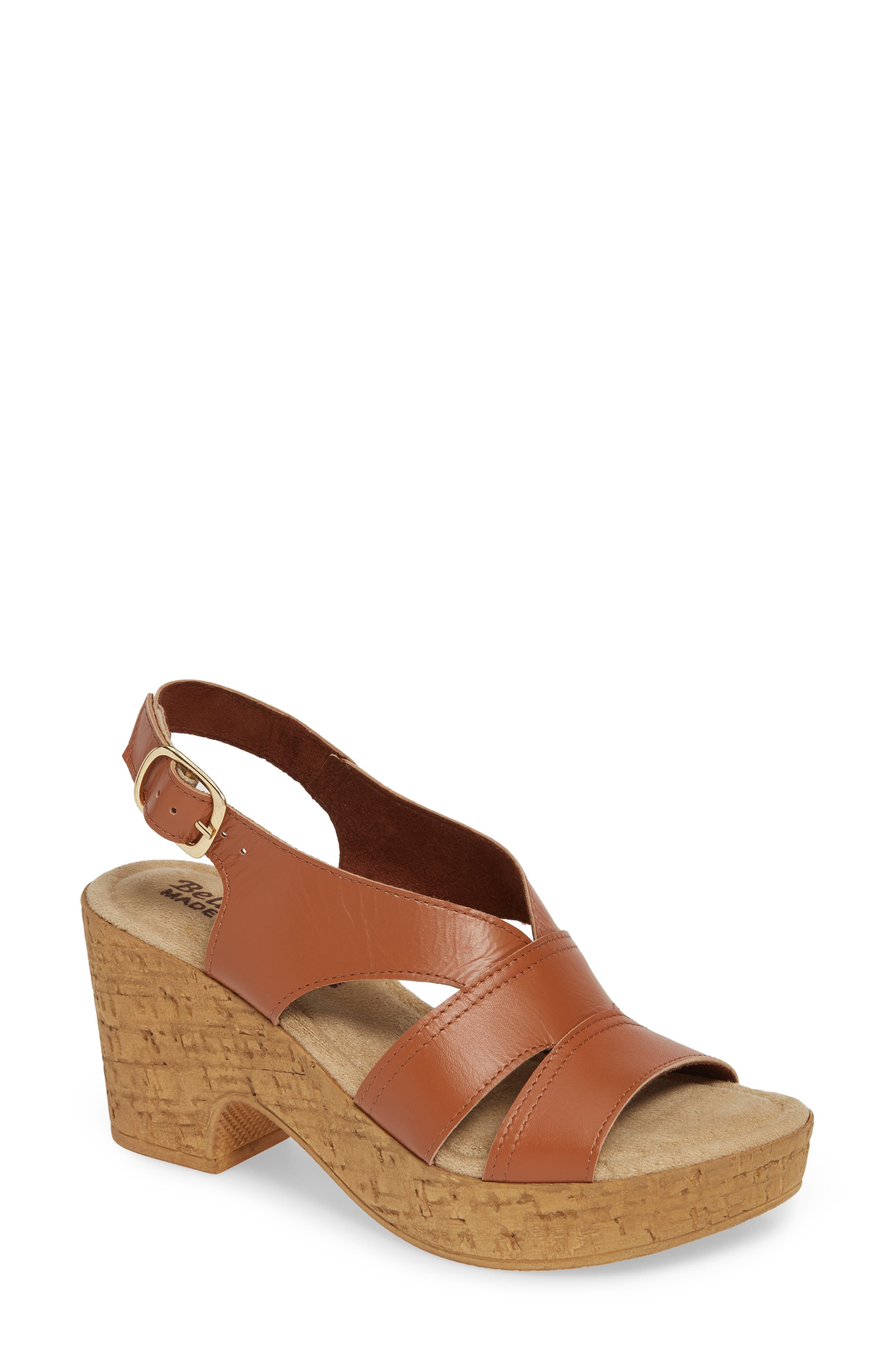 Bella Vita Jaz Platform Sandal N - Brown