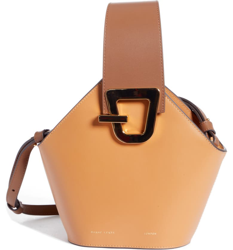 Danse Lente MINI JOHNNY LEATHER BUCKET BAG - BROWN