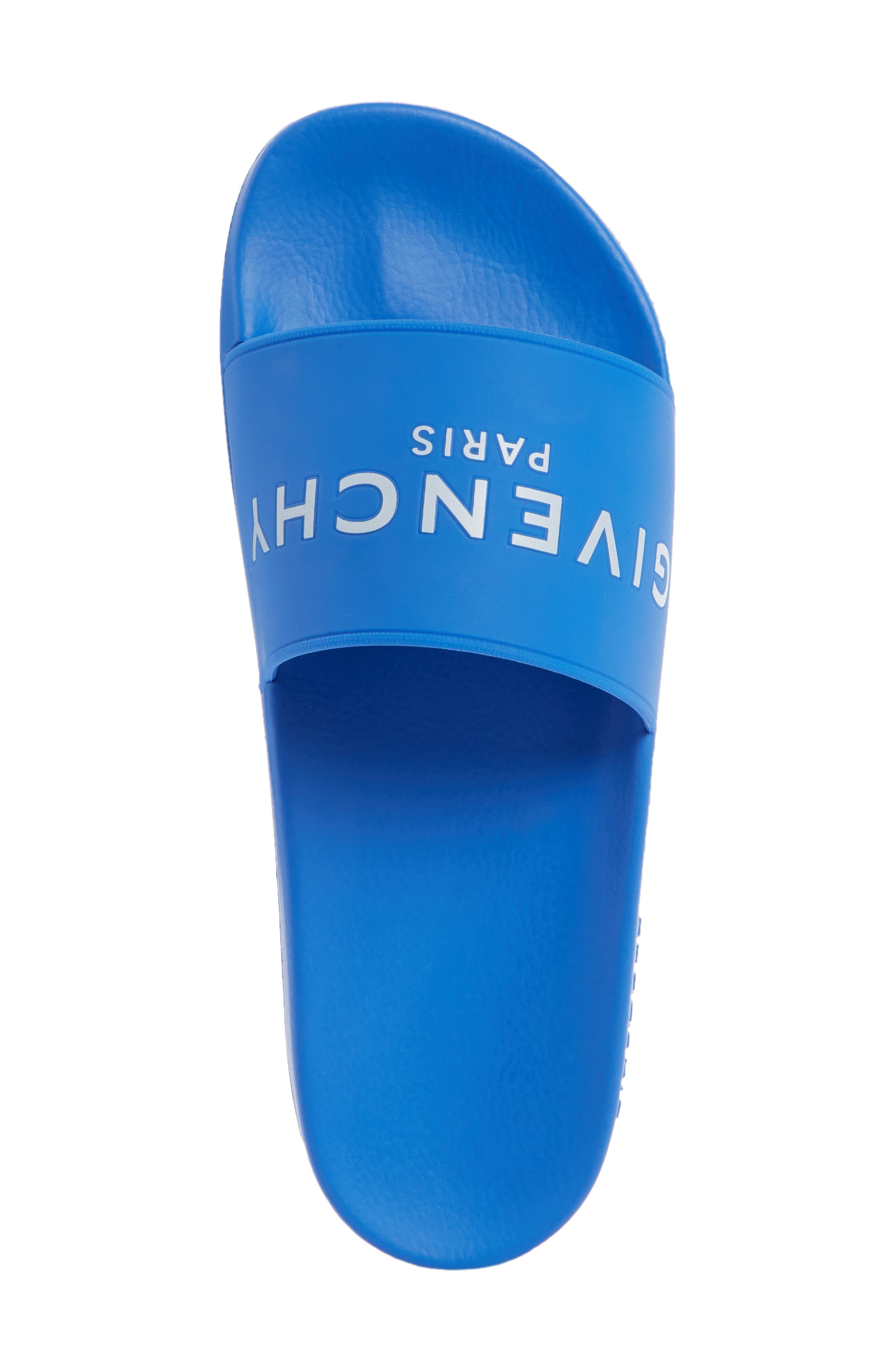 GIVENCHY, Slide Sandal, Alternate thumbnail 5, color, ELECTRIC BLUE/ WHITE