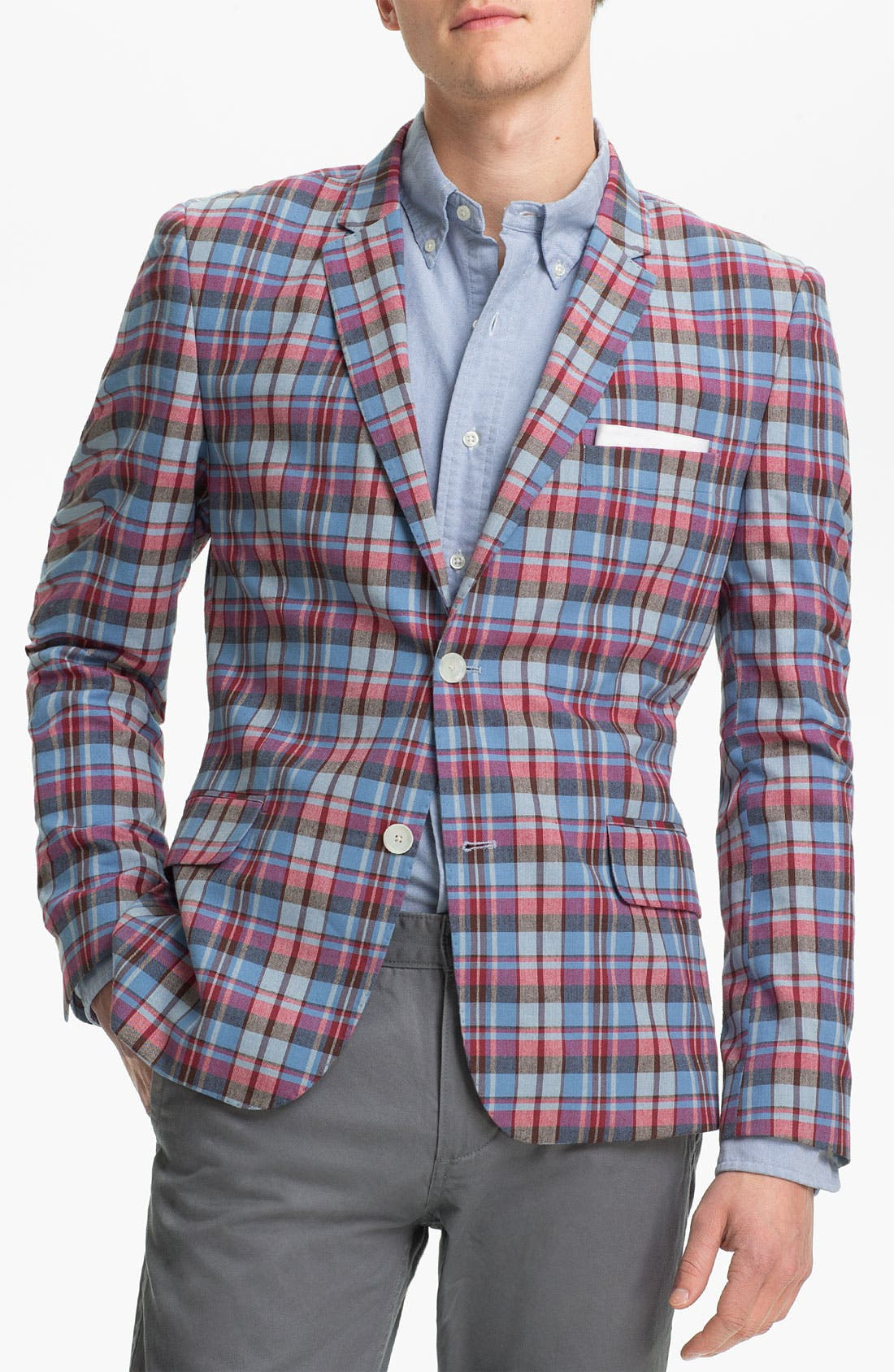 JOHN W. NORDSTROM<SUP>®</SUP>, Madras Cotton Sportcoat, Main thumbnail 1, color, 600