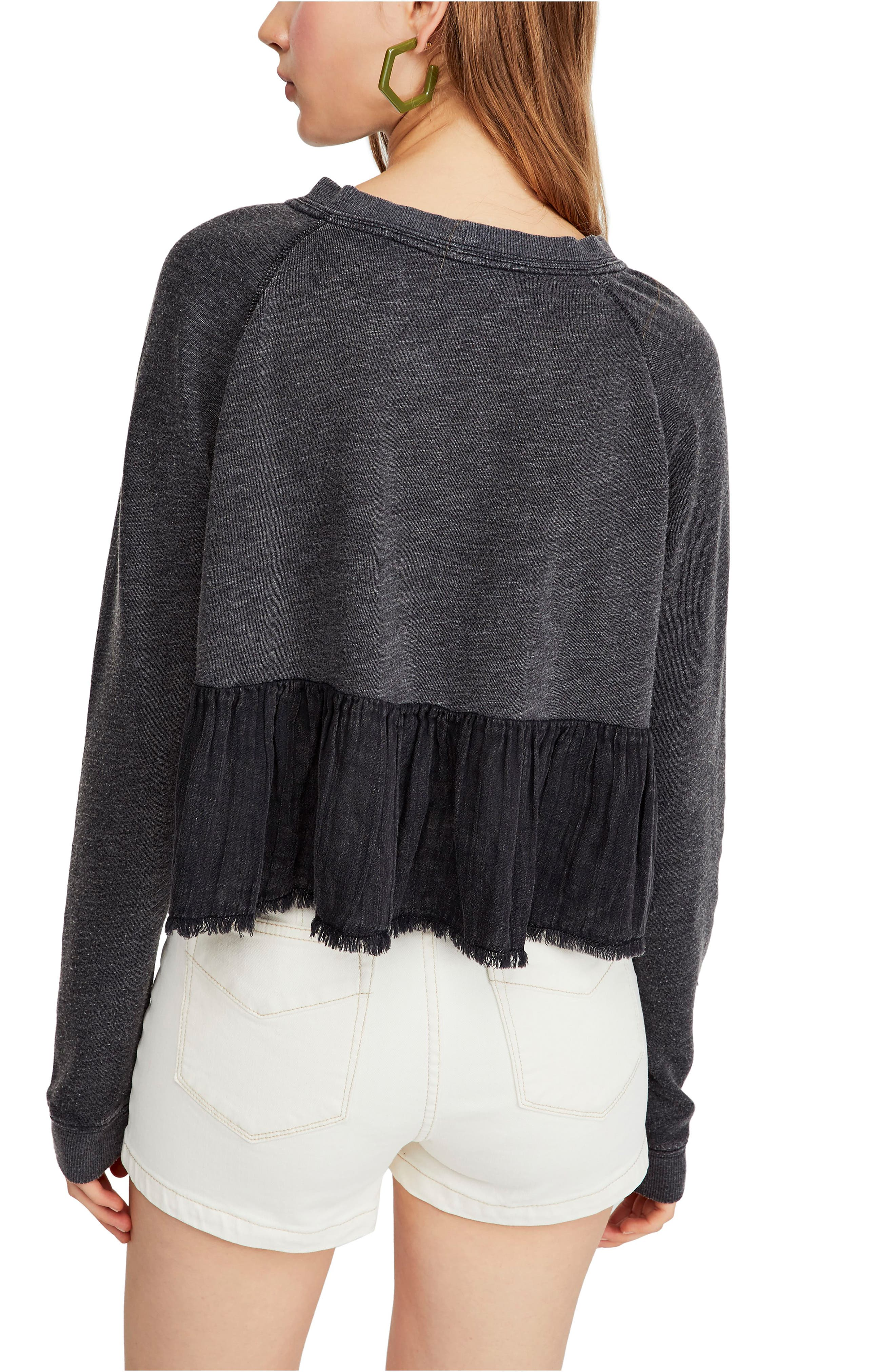 FREE PEOPLE, Sweet Jane Pullover, Alternate thumbnail 2, color, 001