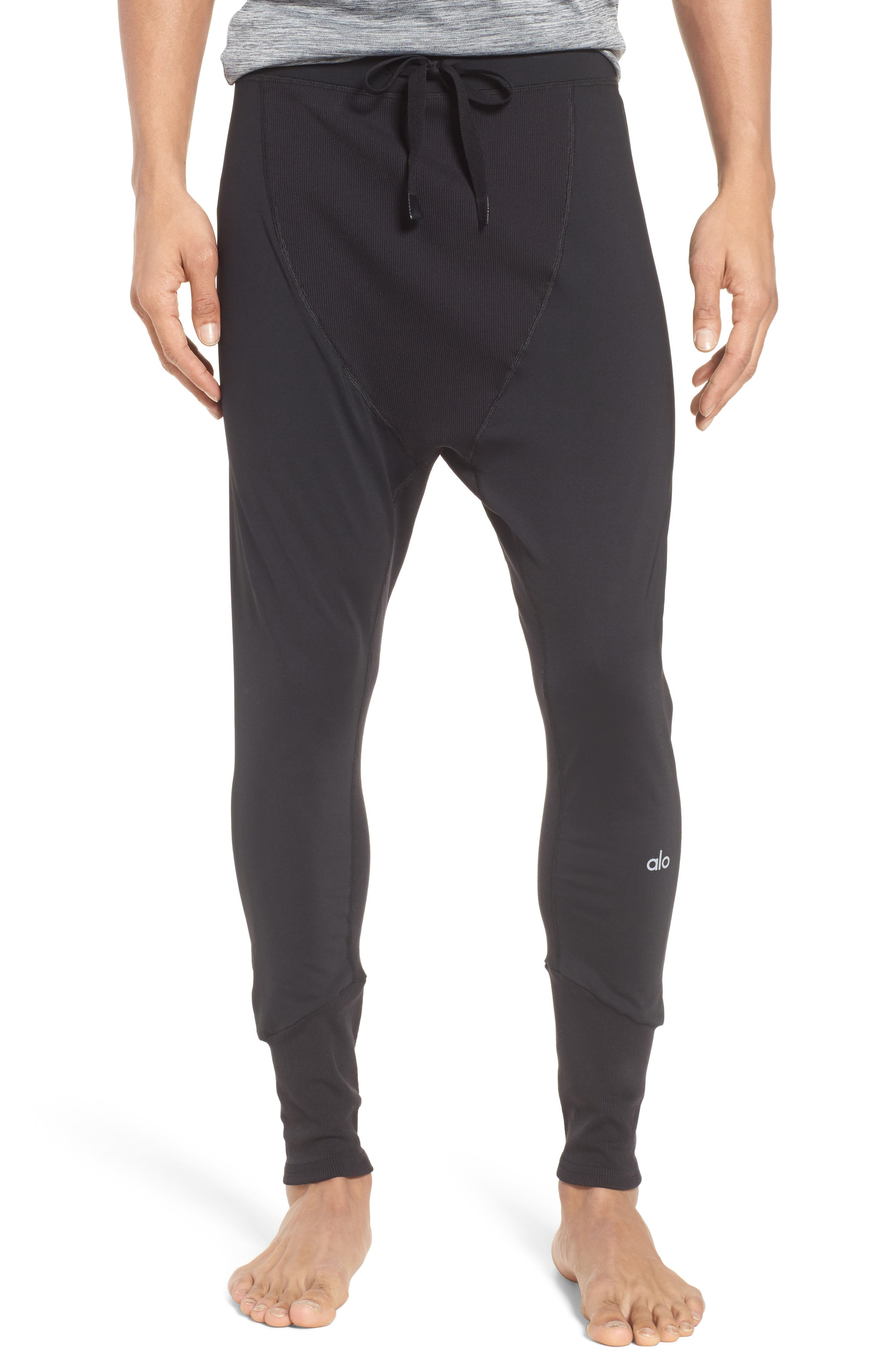 ALO Rebel Jogger Pants, Main, color, BLACK
