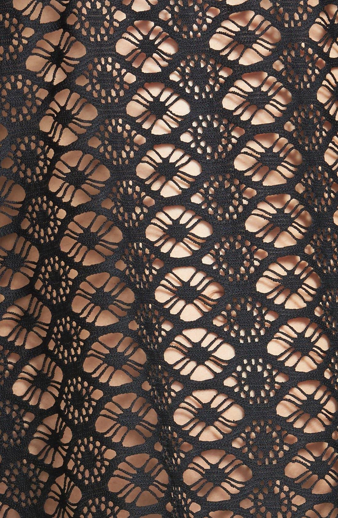 STEVE MADDEN, Crochet Cover-Up, Alternate thumbnail 2, color, 002
