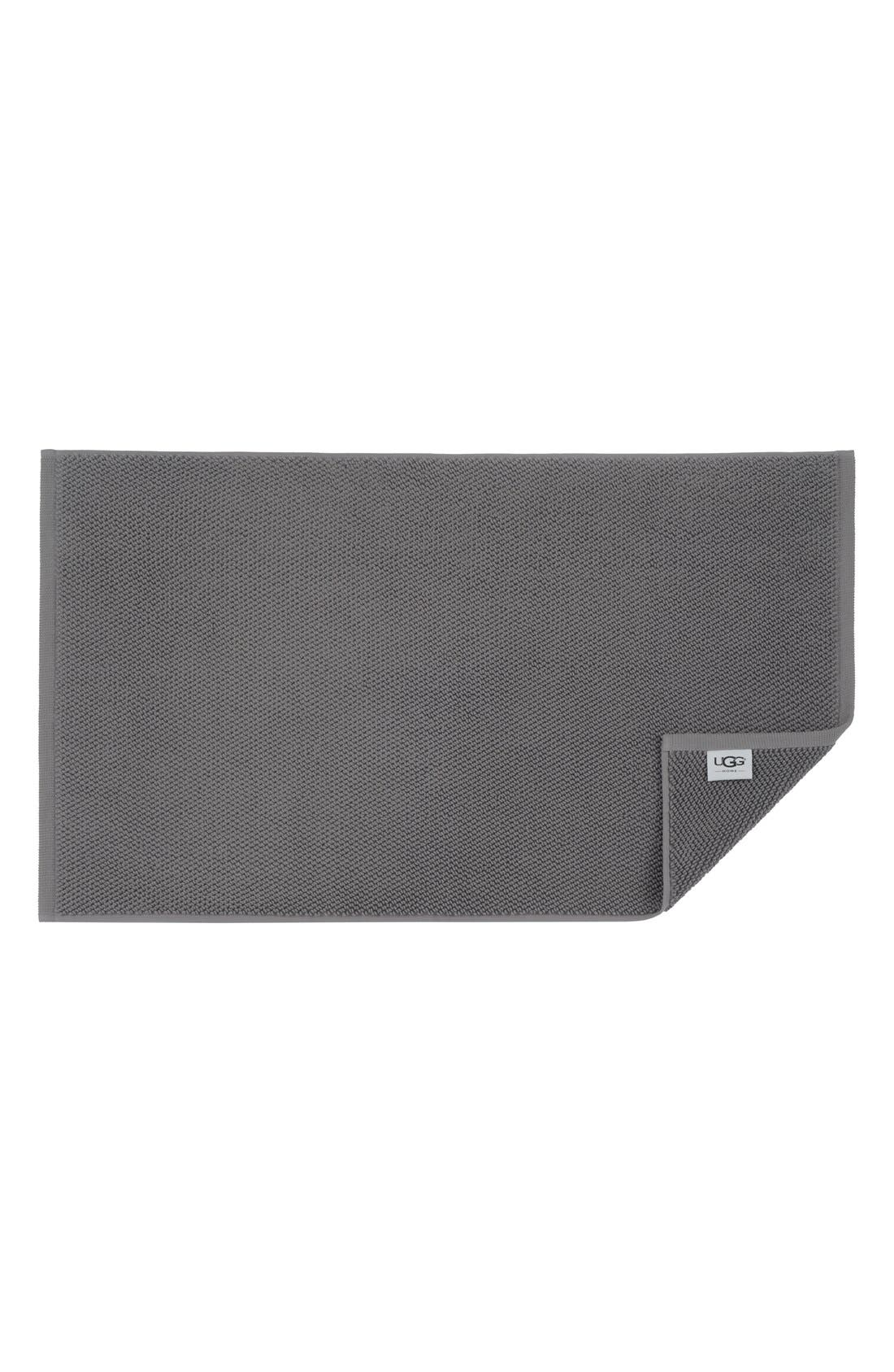 UGG<SUP>®</SUP> 'Classic Luxe' Bath Rug, Main, color, GRANITE