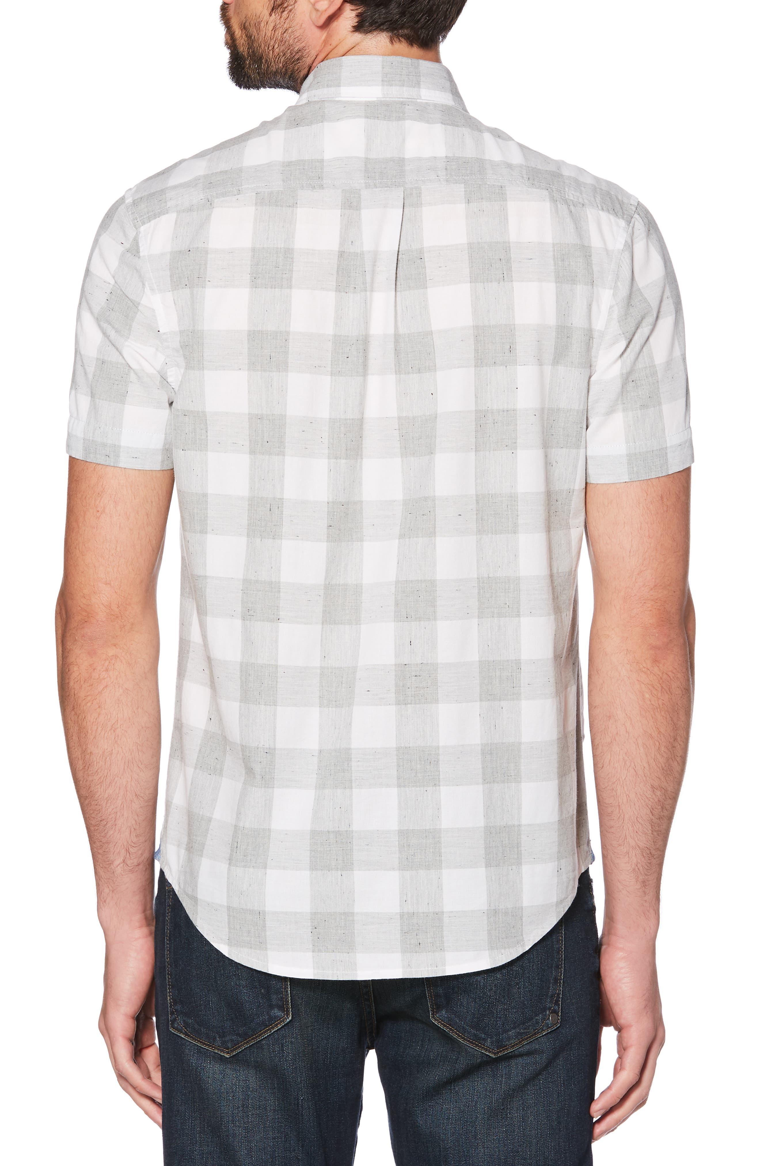 ORIGINAL PENGUIN, Heather Buffalo Plaid Woven Shirt, Alternate thumbnail 2, color, 037
