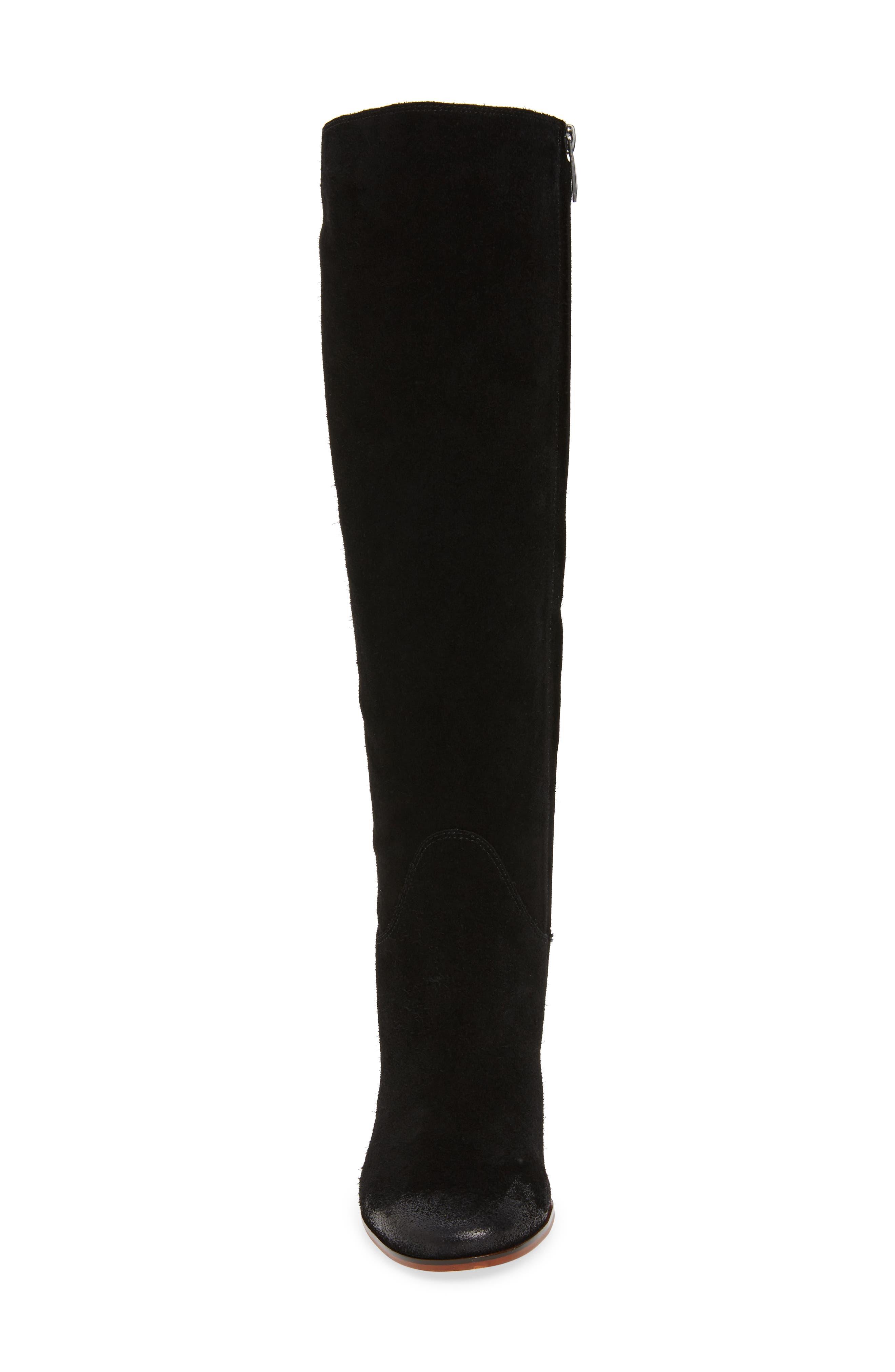 SAM EDELMAN, Camellia Tall Boot, Alternate thumbnail 4, color, 002
