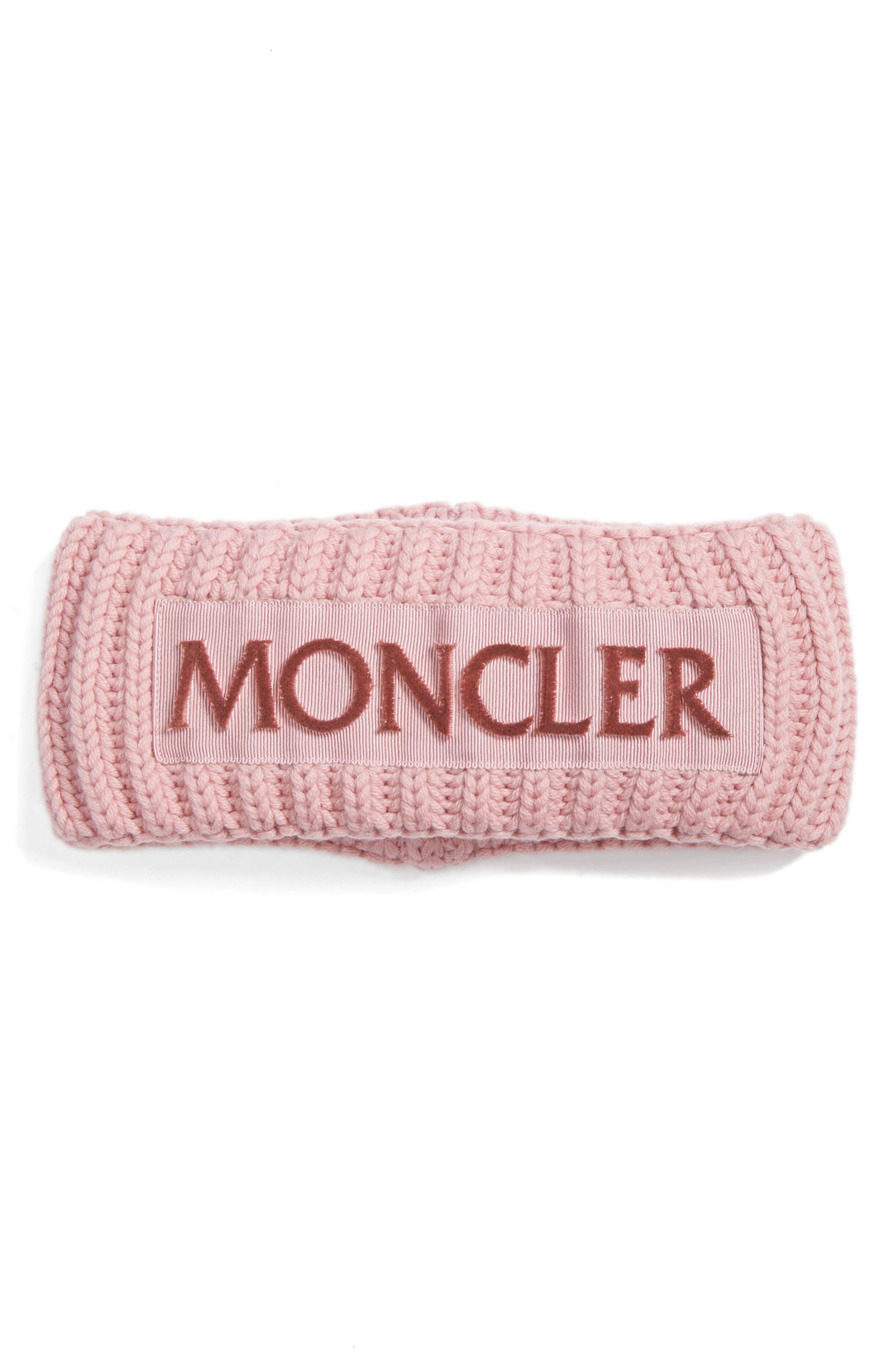 MONCLER Rib Knit Headband, Main, color, 662