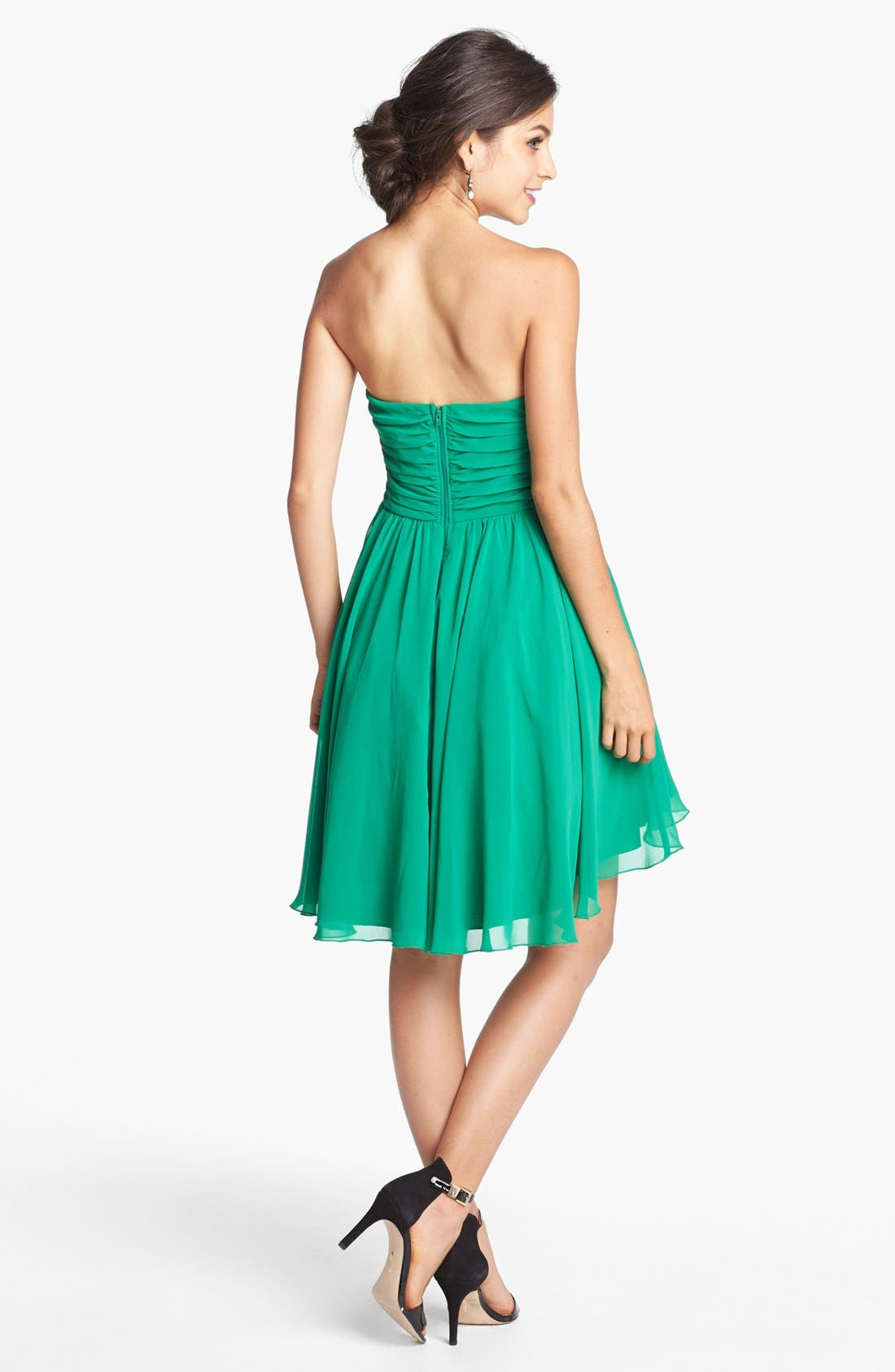 WAY-IN, Embellished Strapless Fit & Flare Dress, Alternate thumbnail 2, color, 301
