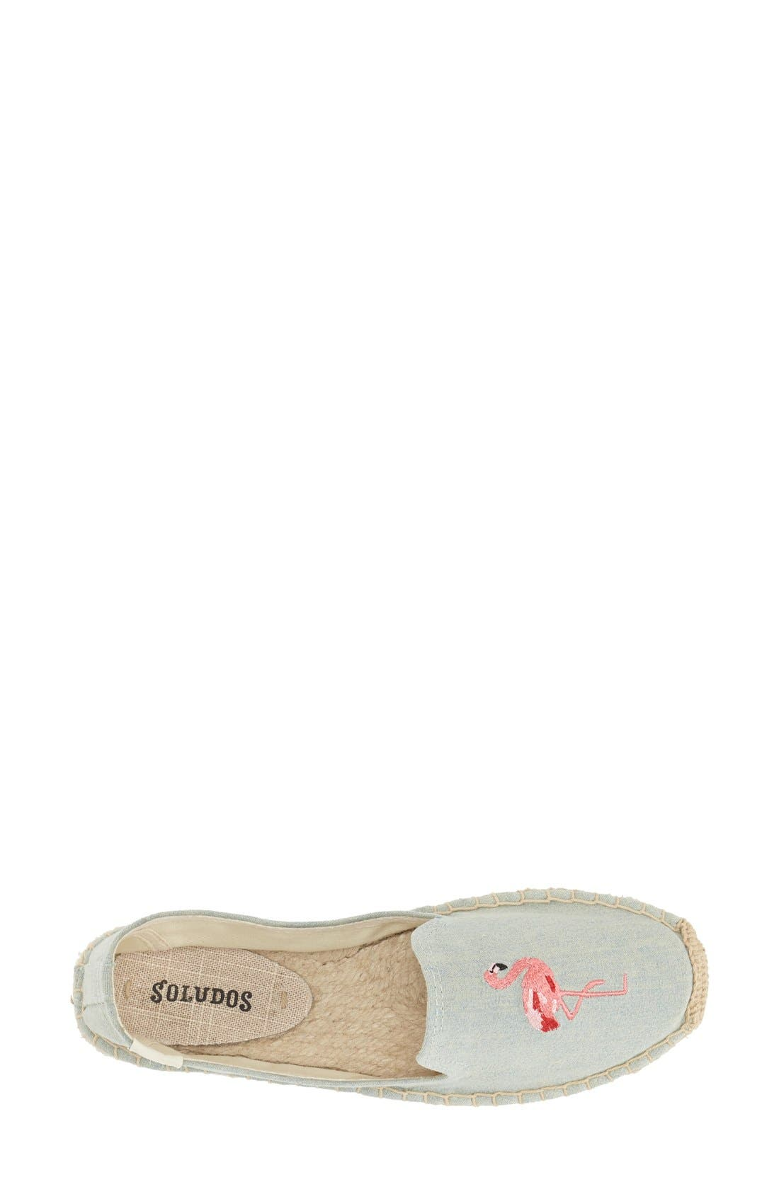 SOLUDOS, Espadrille Slip-On, Alternate thumbnail 6, color, FLAMINGO CHAMBRAY