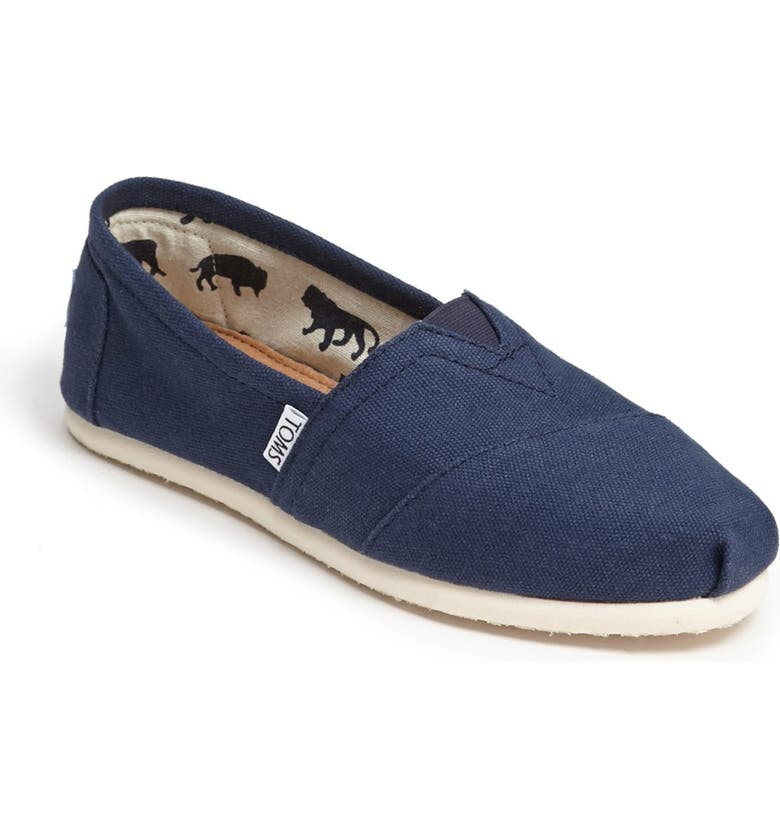 1c8cccf27a7 Toms Personalized Classic Canvas Slip-On In Navy